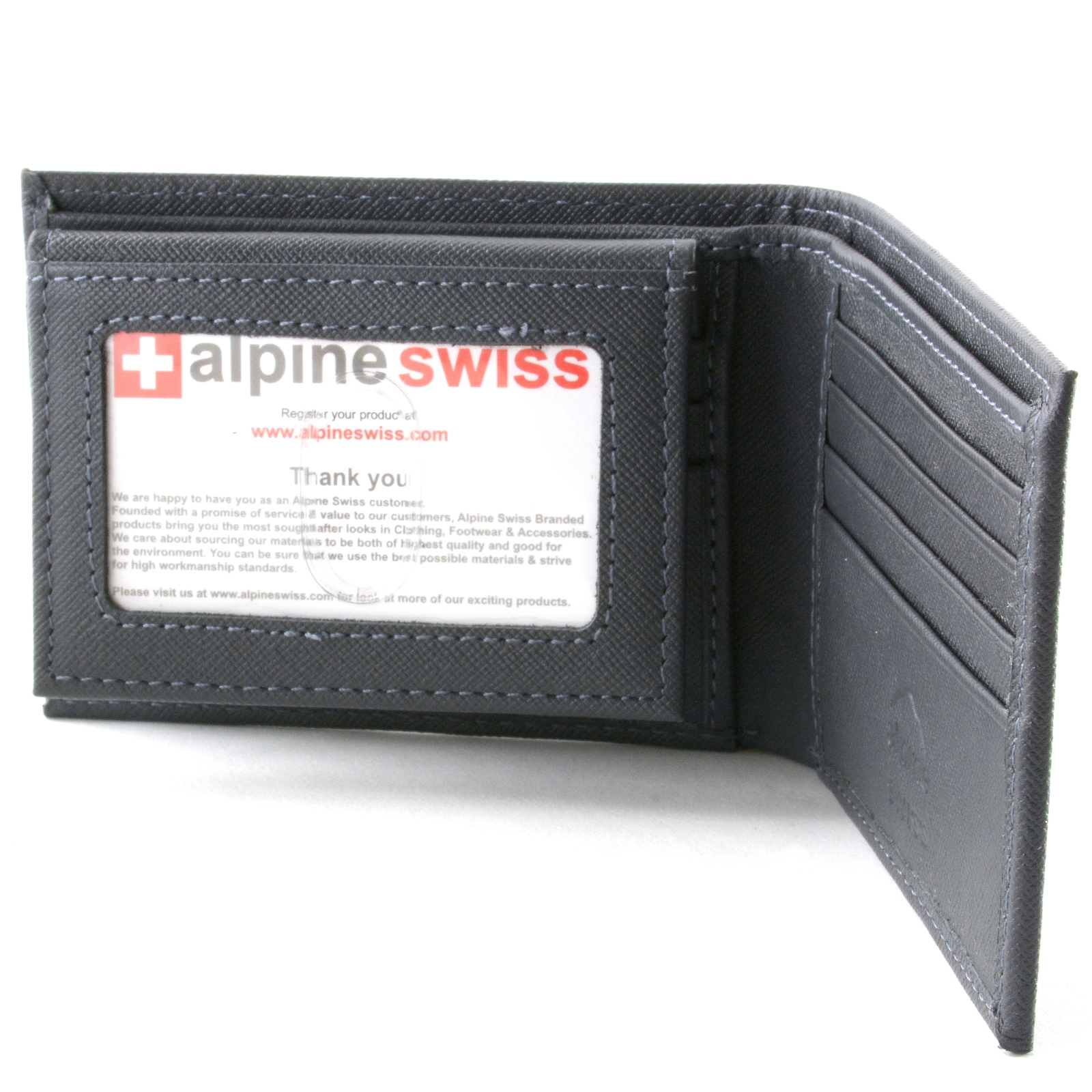 Alpine-Swiss-Mens-Wallet-Genuine-Leather-Removable-ID-Card-Case-Bifold-Passcase thumbnail 84