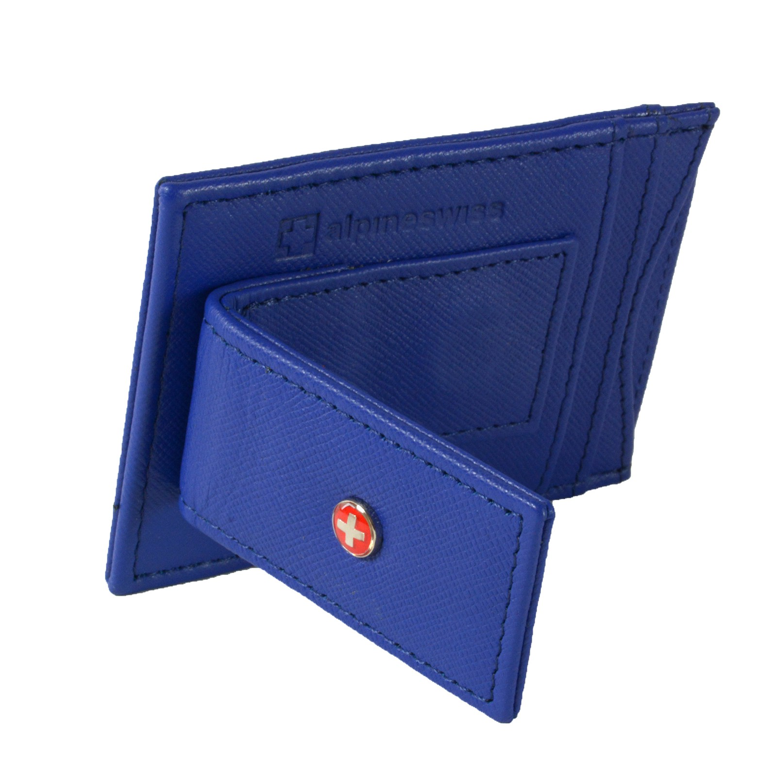 AlpineSwiss-Mens-Leather-Money-Clip-Magnet-Front-Pocket-Wallet-Slim-ID-Card-Case thumbnail 55
