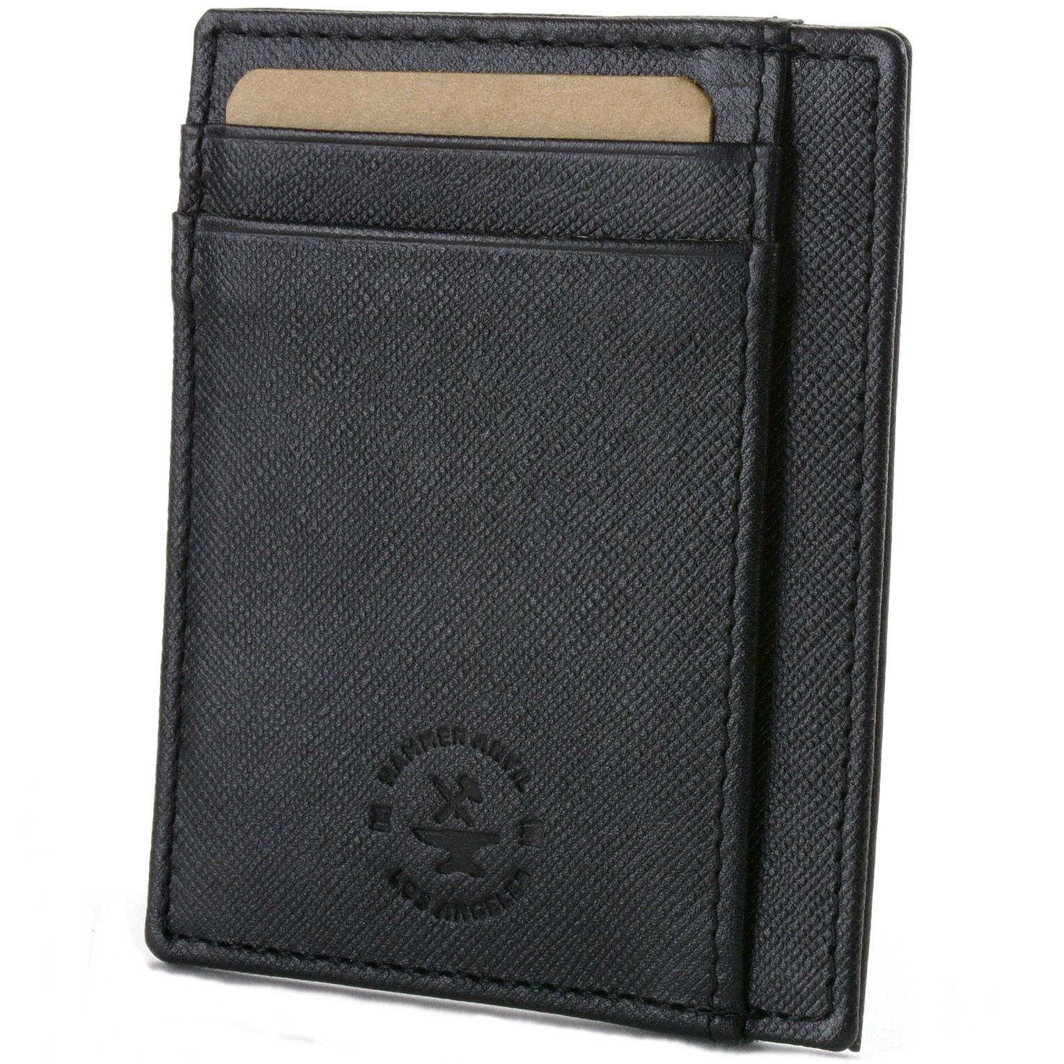 miniature 33 - Hammer-Anvil-Minimalist-Front-Pocket-Wallet-RFID-Blocking-Thin-Leather-Card-Case