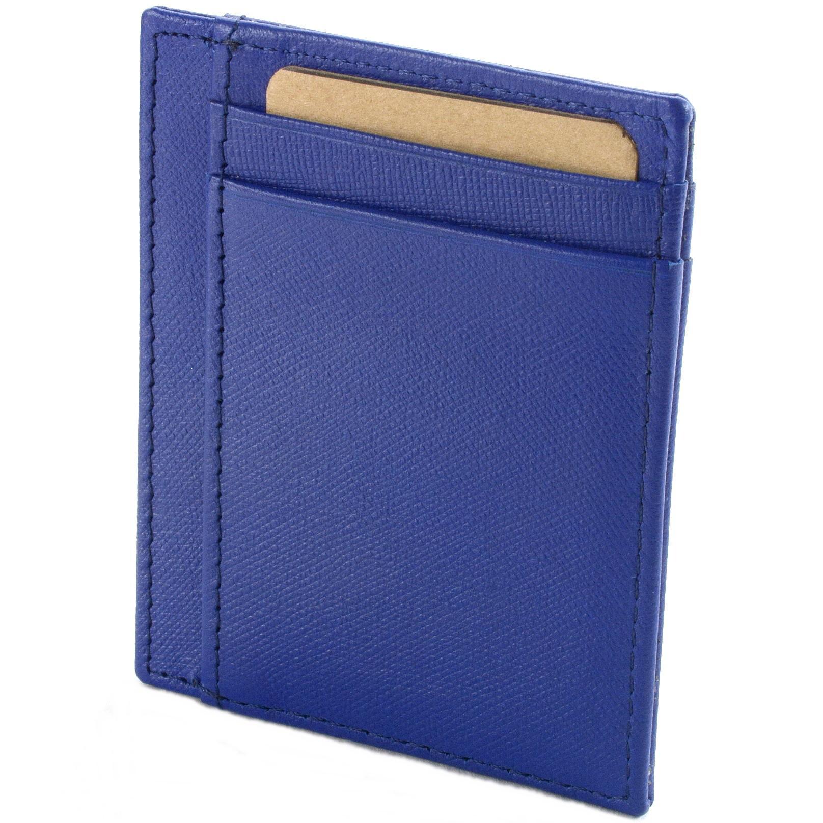 miniature 37 - Hammer-Anvil-Minimalist-Front-Pocket-Wallet-RFID-Blocking-Thin-Leather-Card-Case