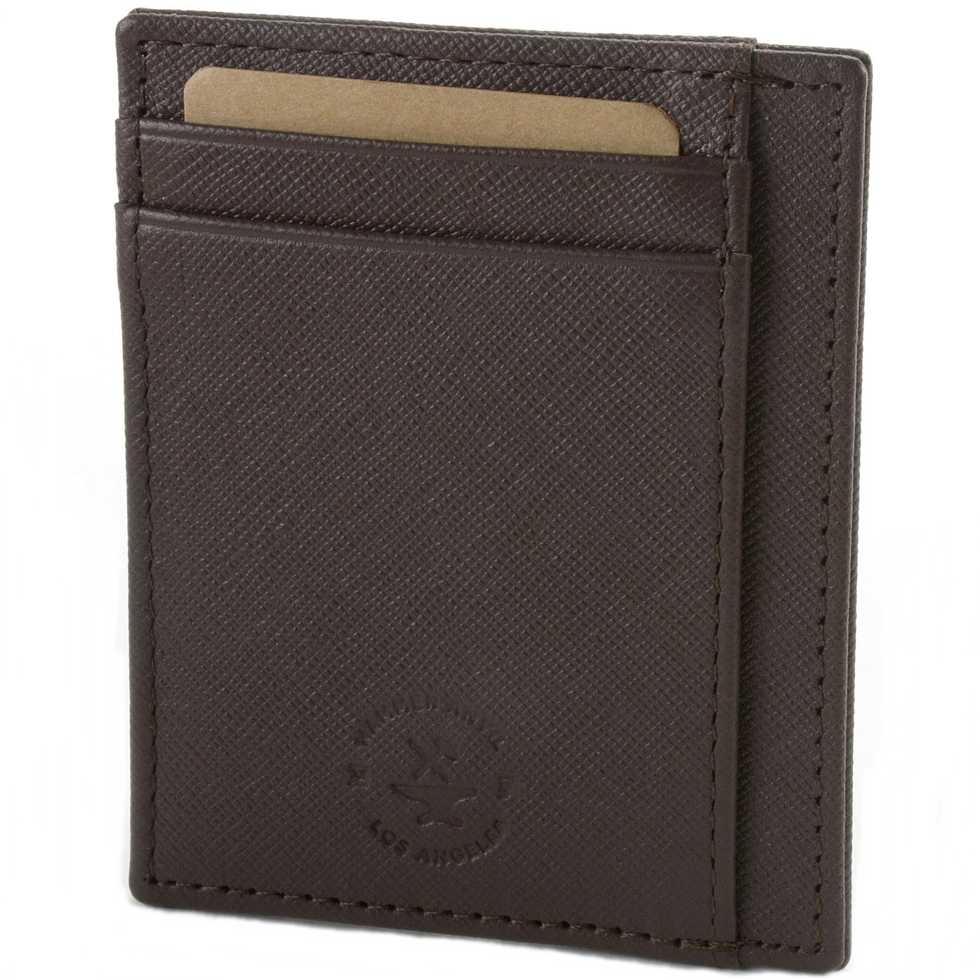 miniature 46 - Hammer-Anvil-Minimalist-Front-Pocket-Wallet-RFID-Blocking-Thin-Leather-Card-Case