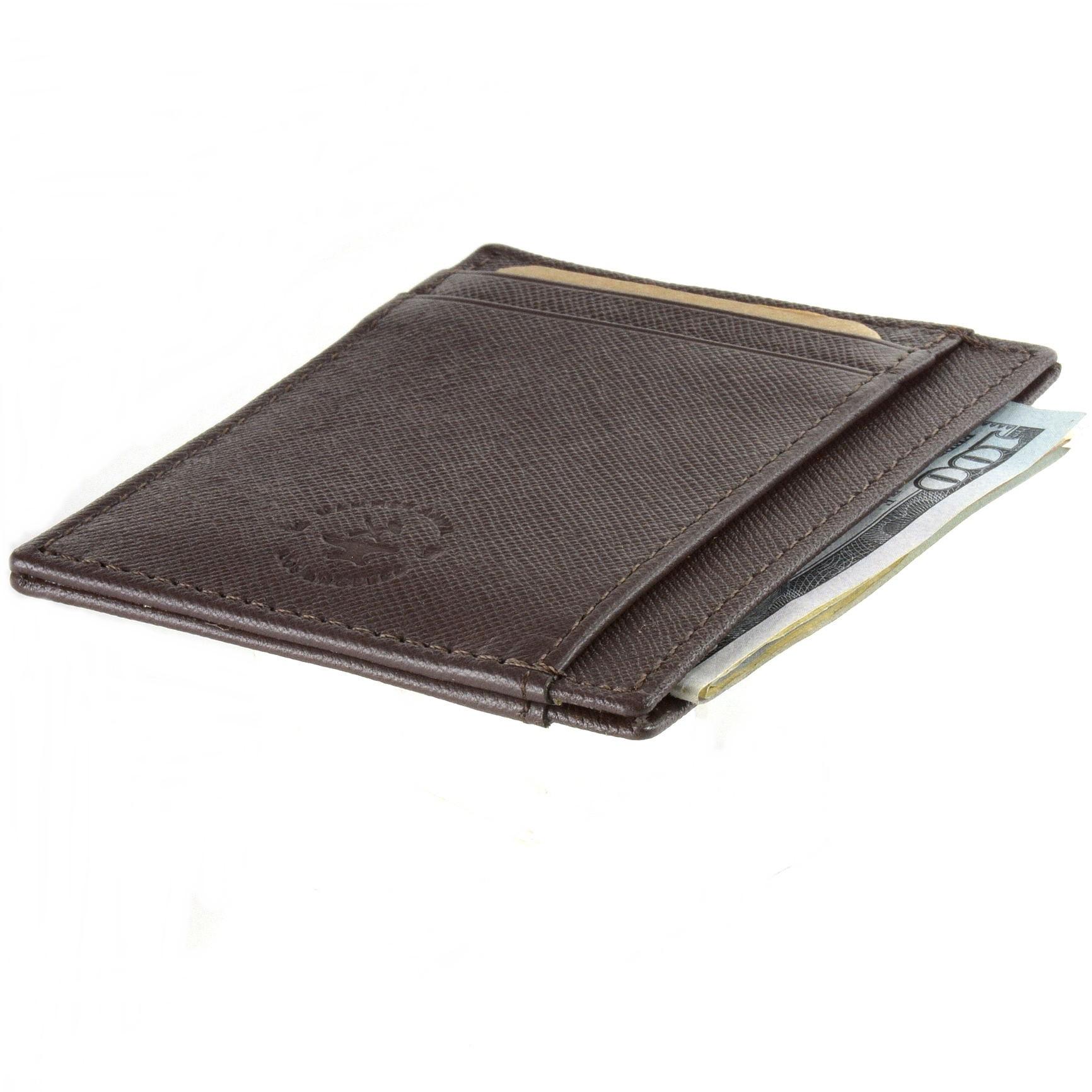 miniature 43 - Hammer-Anvil-Minimalist-Front-Pocket-Wallet-RFID-Blocking-Thin-Leather-Card-Case