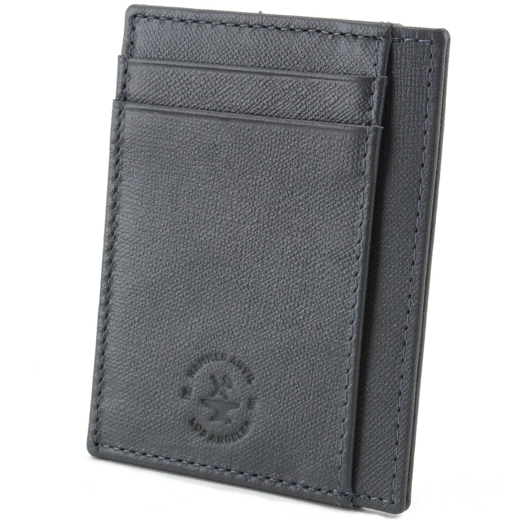 miniature 53 - Hammer-Anvil-Minimalist-Front-Pocket-Wallet-RFID-Blocking-Thin-Leather-Card-Case