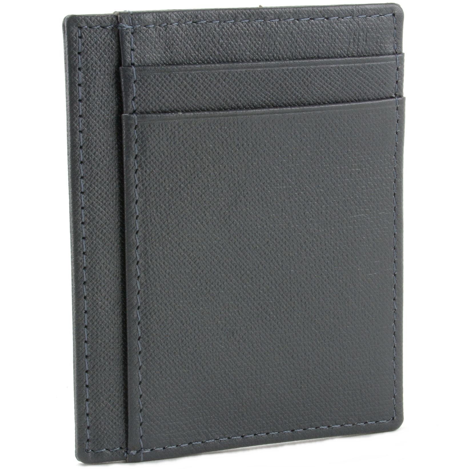 miniature 51 - Hammer-Anvil-Minimalist-Front-Pocket-Wallet-RFID-Blocking-Thin-Leather-Card-Case