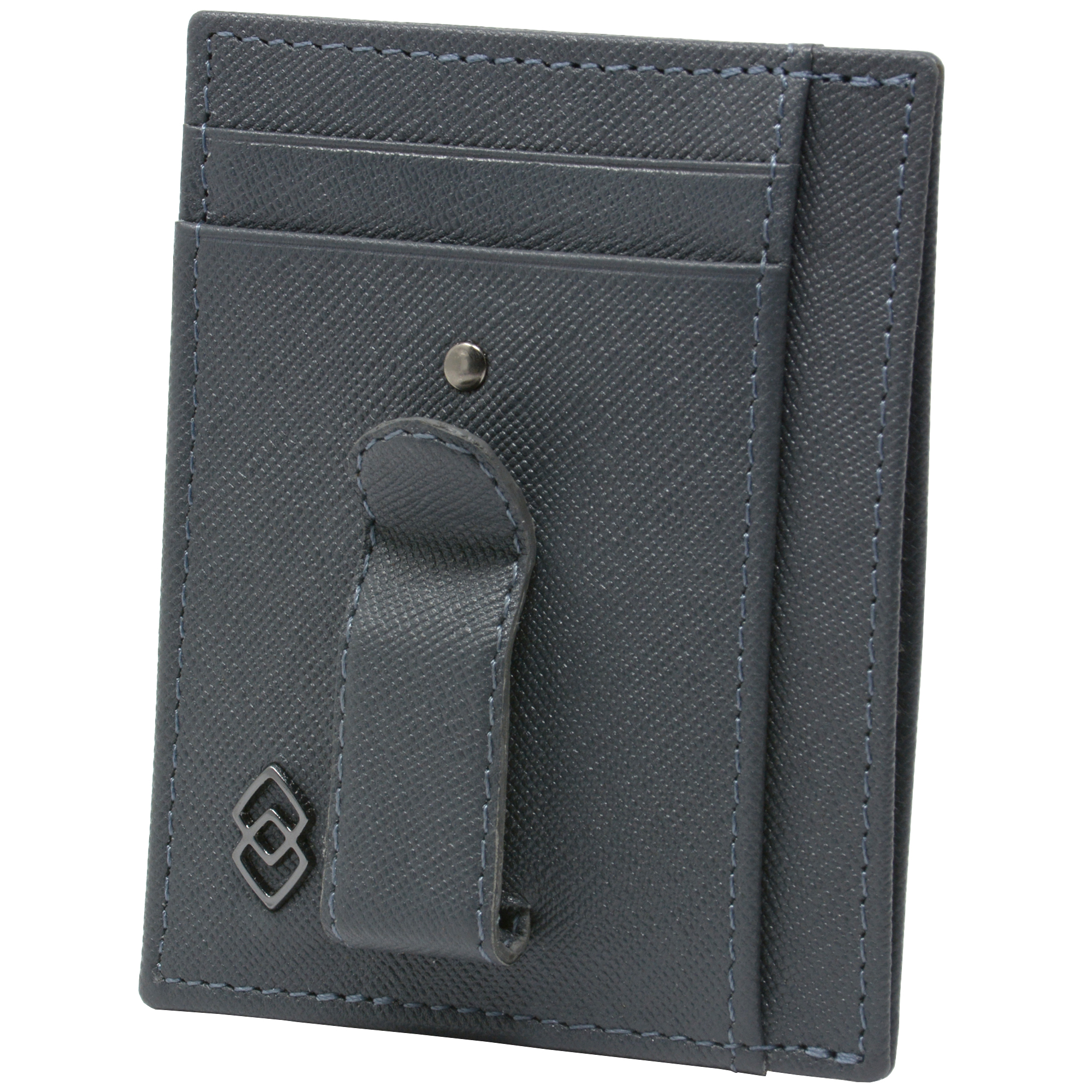 Alpine-Swiss-Double-Diamond-Men-s-RFID-Money-Clip-Minimalist-Front-Pocket-Wallet