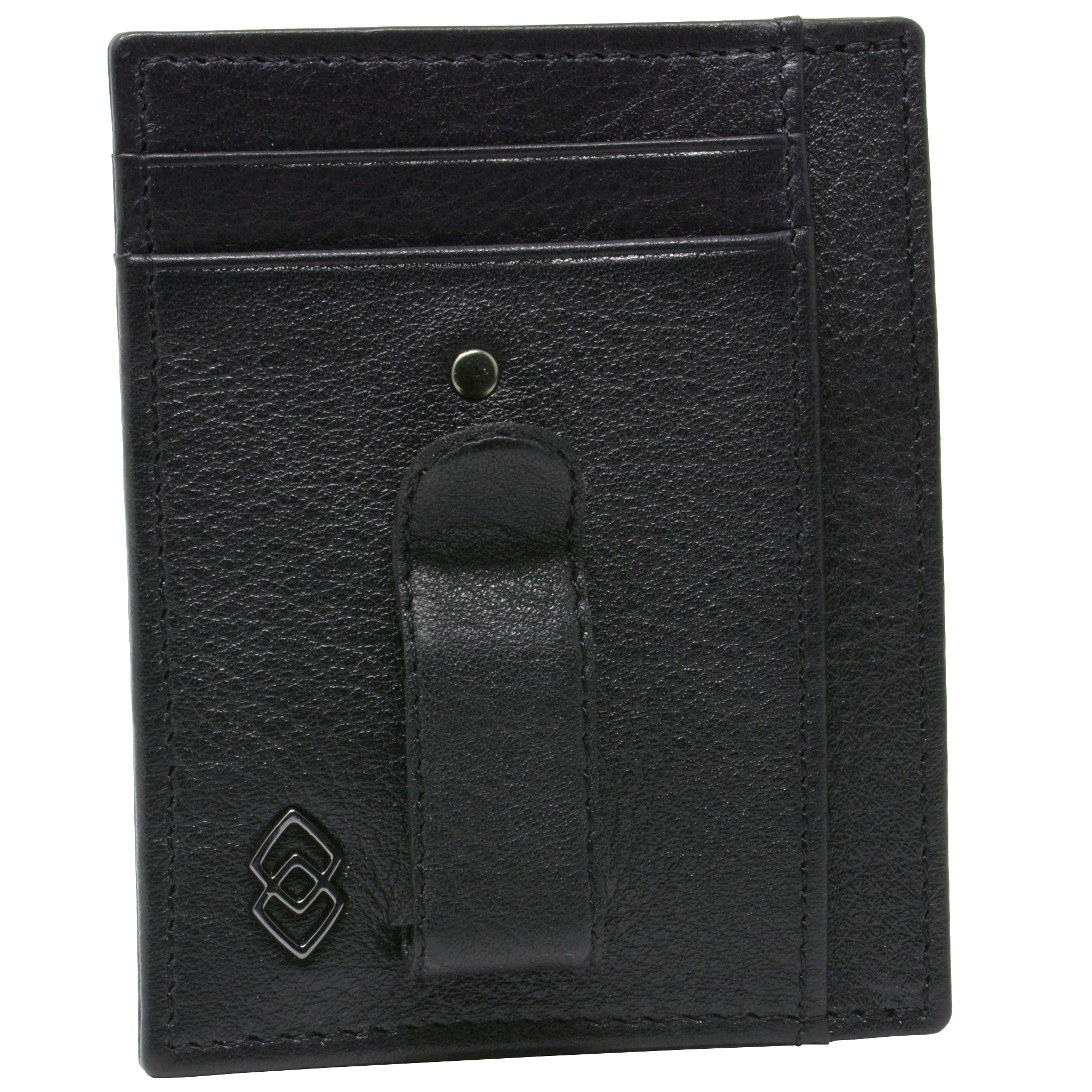 Alpine-Swiss-Double-Diamond-Mens-RFID-Money-Clip-Minimalist-Front-Pocket-Wallet