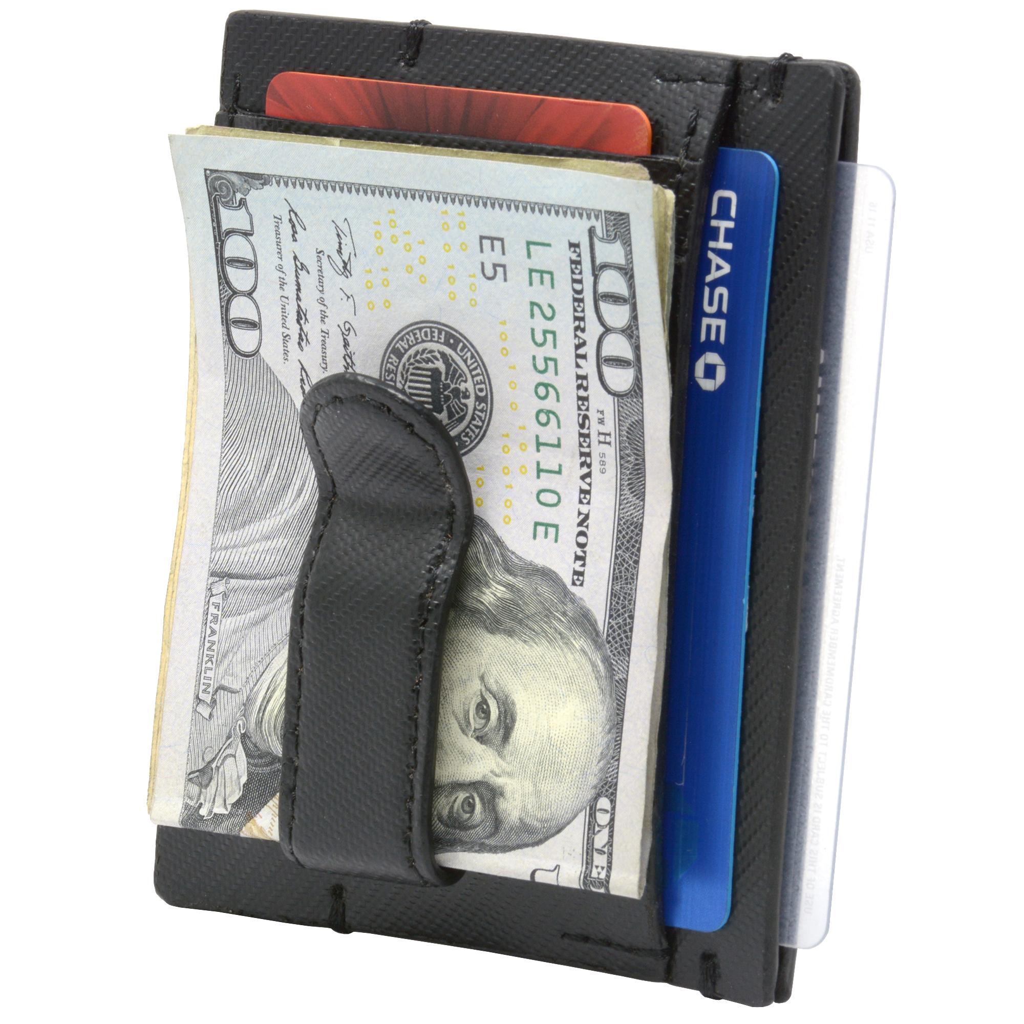 Alpine-Swiss-Double-Diamond-Men-s-RFID-Money-Clip-Minimalist-Front-Pocket-Wallet