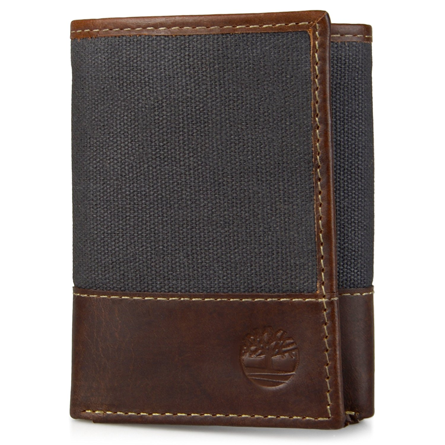 Timberland Men/'s Baseline Canvas Trifold Wallet