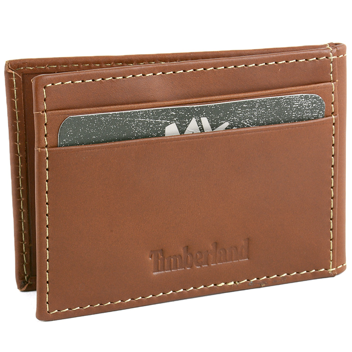 6eb85606b312 Leather Bi-Fold money clip wallets with 3 credit card slots and an ID holder.  Top Selling Rfid Blocking ...