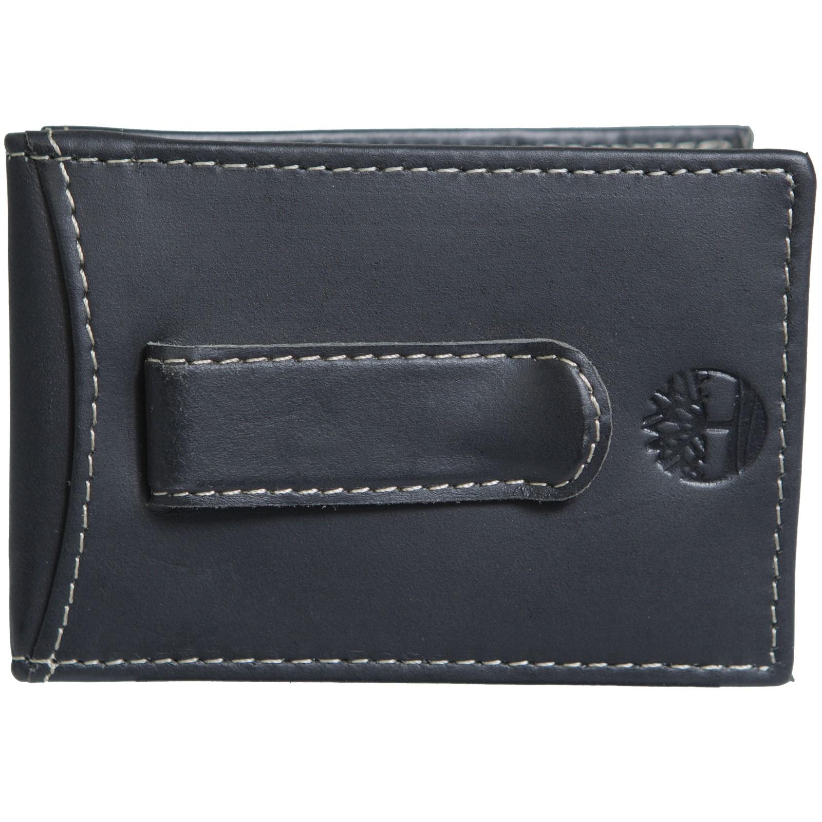 85196ffa7b5f0 Timberland Mens Flip Money Clip Leather Bifold Pocket Wallet ID Card Case  Holder