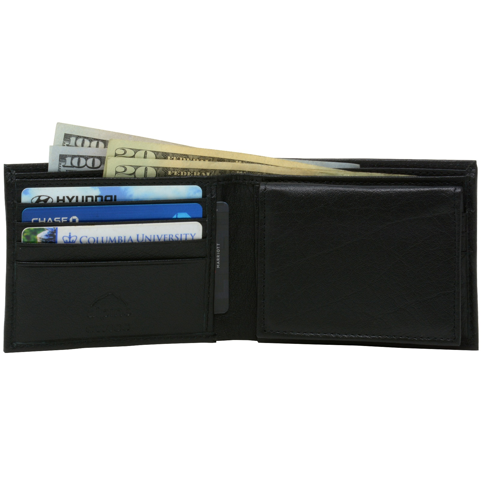 Alpine-Swiss-Mens-Wallet-Genuine-Leather-Divided-Bill-Section-Flipout-ID-Bifold thumbnail 22