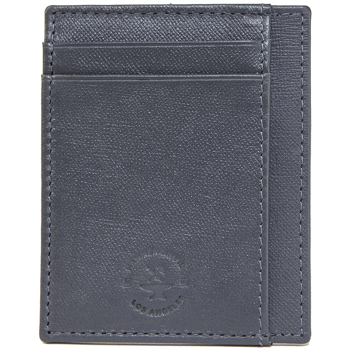 miniature 54 - Hammer-Anvil-Minimalist-Front-Pocket-Wallet-RFID-Blocking-Thin-Leather-Card-Case