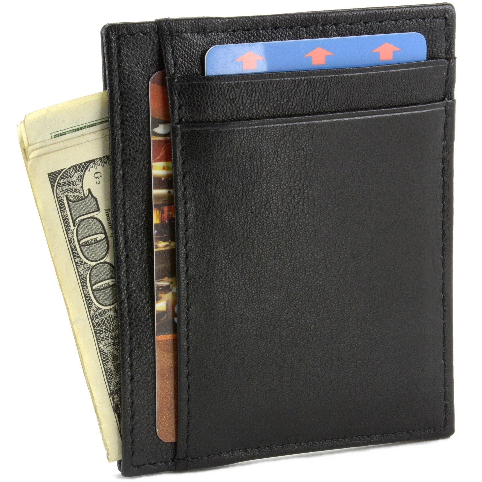 miniature 15 - Hammer-Anvil-Minimalist-Front-Pocket-Wallet-RFID-Blocking-Thin-Leather-Card-Case