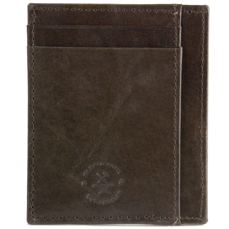 miniature 27 - Hammer-Anvil-Minimalist-Front-Pocket-Wallet-RFID-Blocking-Thin-Leather-Card-Case
