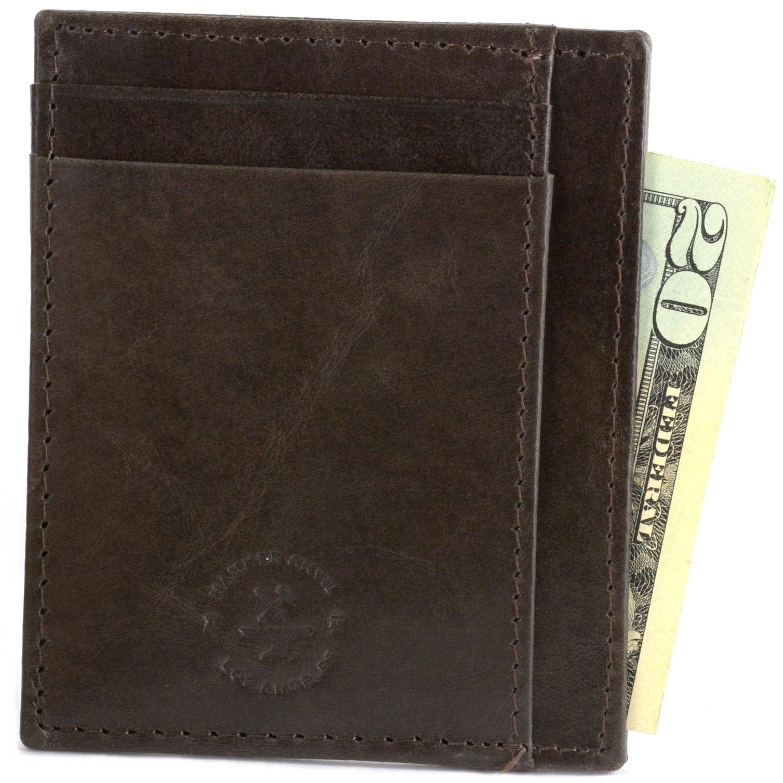 miniature 26 - Hammer-Anvil-Minimalist-Front-Pocket-Wallet-RFID-Blocking-Thin-Leather-Card-Case