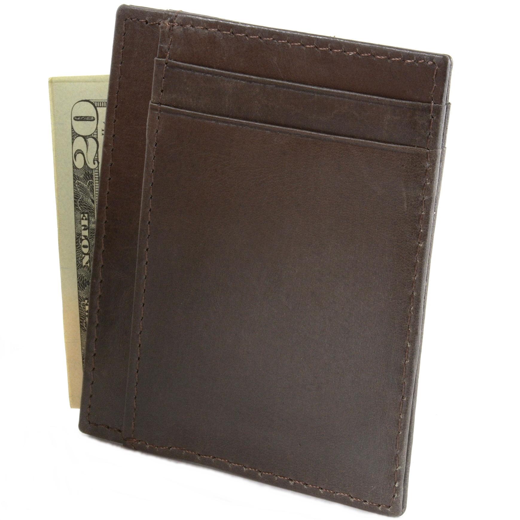 miniature 22 - Hammer-Anvil-Minimalist-Front-Pocket-Wallet-RFID-Blocking-Thin-Leather-Card-Case