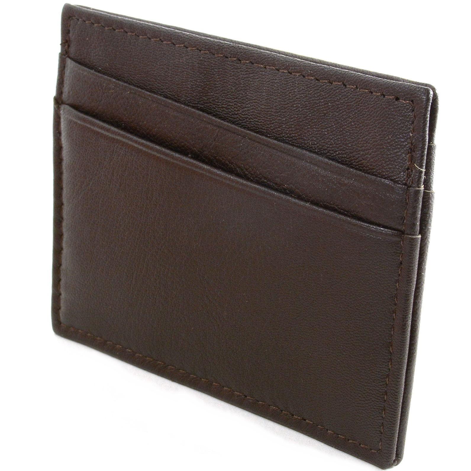 Alpine-Swiss-Minimalist-Leather-Front-Pocket-Wallet-5-Card-Slots-Slim-Thin-Case thumbnail 51