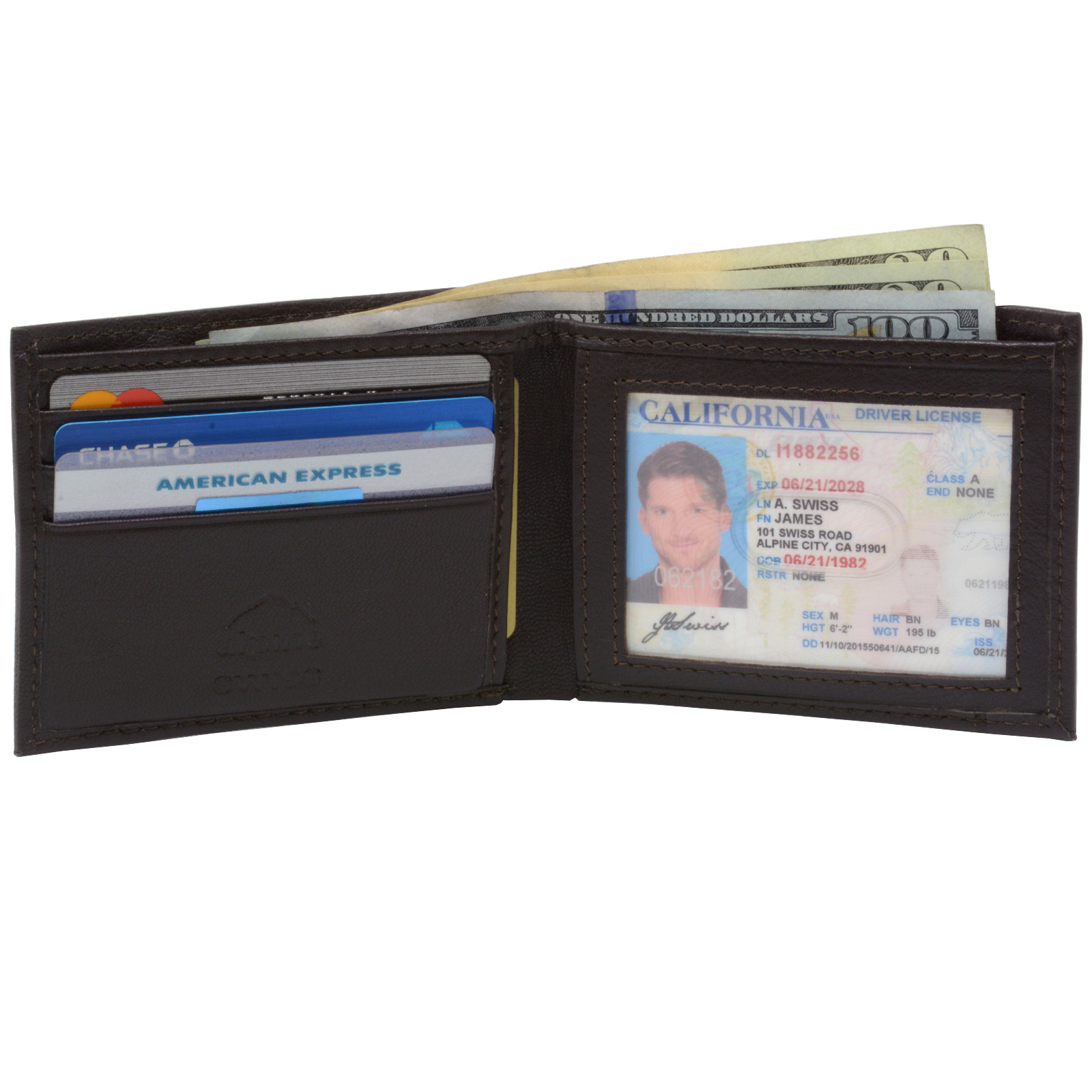 Alpine-Swiss-Men-039-s-RFID-Blocking-Leather-Wallet-Slim-Outer-Card-Slot-Thin-Bifold