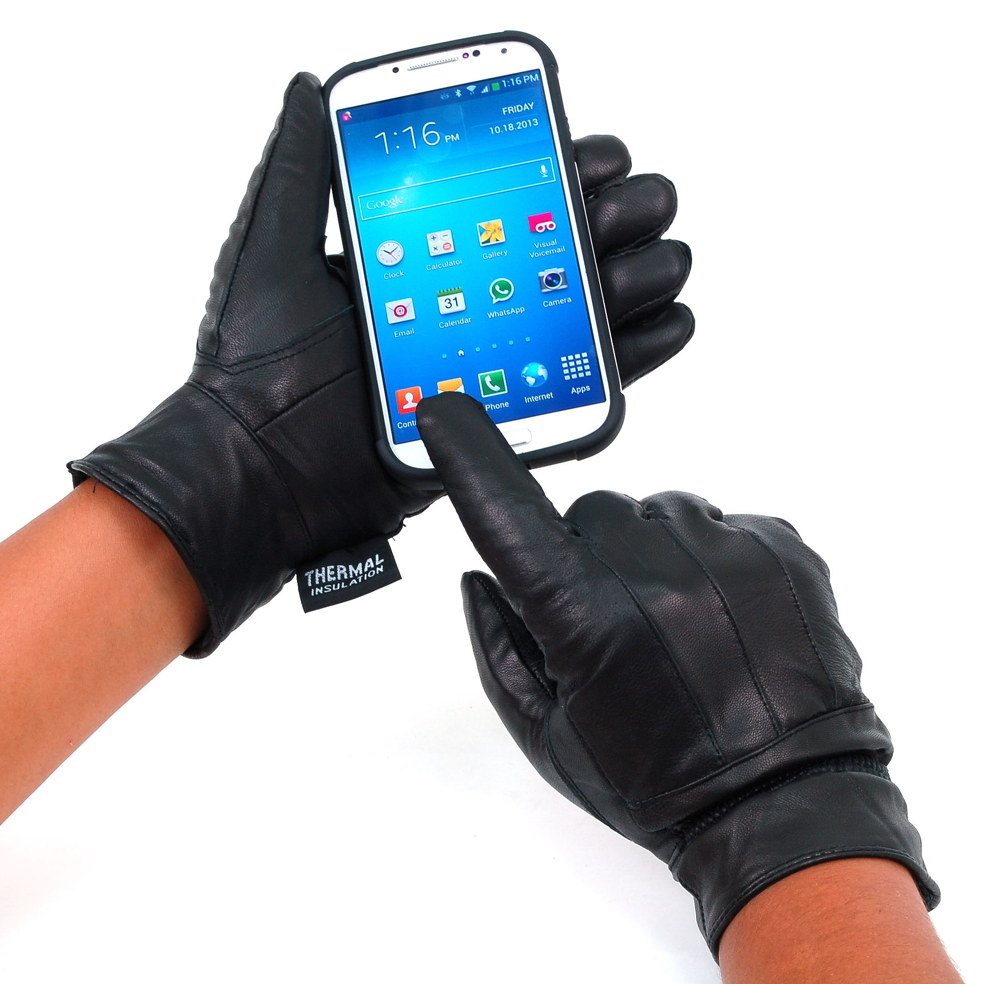 Alpine-Swiss-Womens-Touch-Screen-Gloves-Leather-Phone-Texting-Glove-Thermal-Warm thumbnail 18