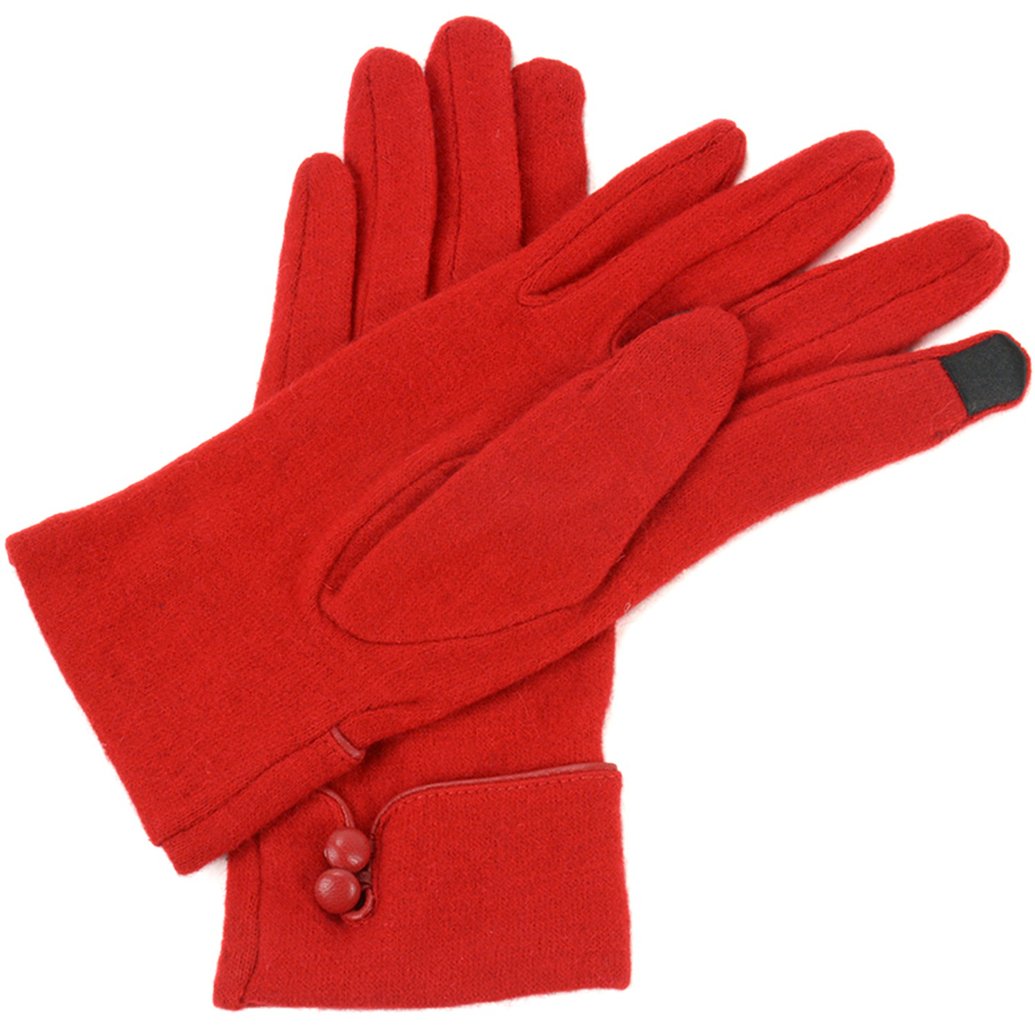 Alpine-Swiss-Womens-Wool-amp-Leather-Trim-Touch-Screen-Texting-Dress-Button-Gloves thumbnail 17