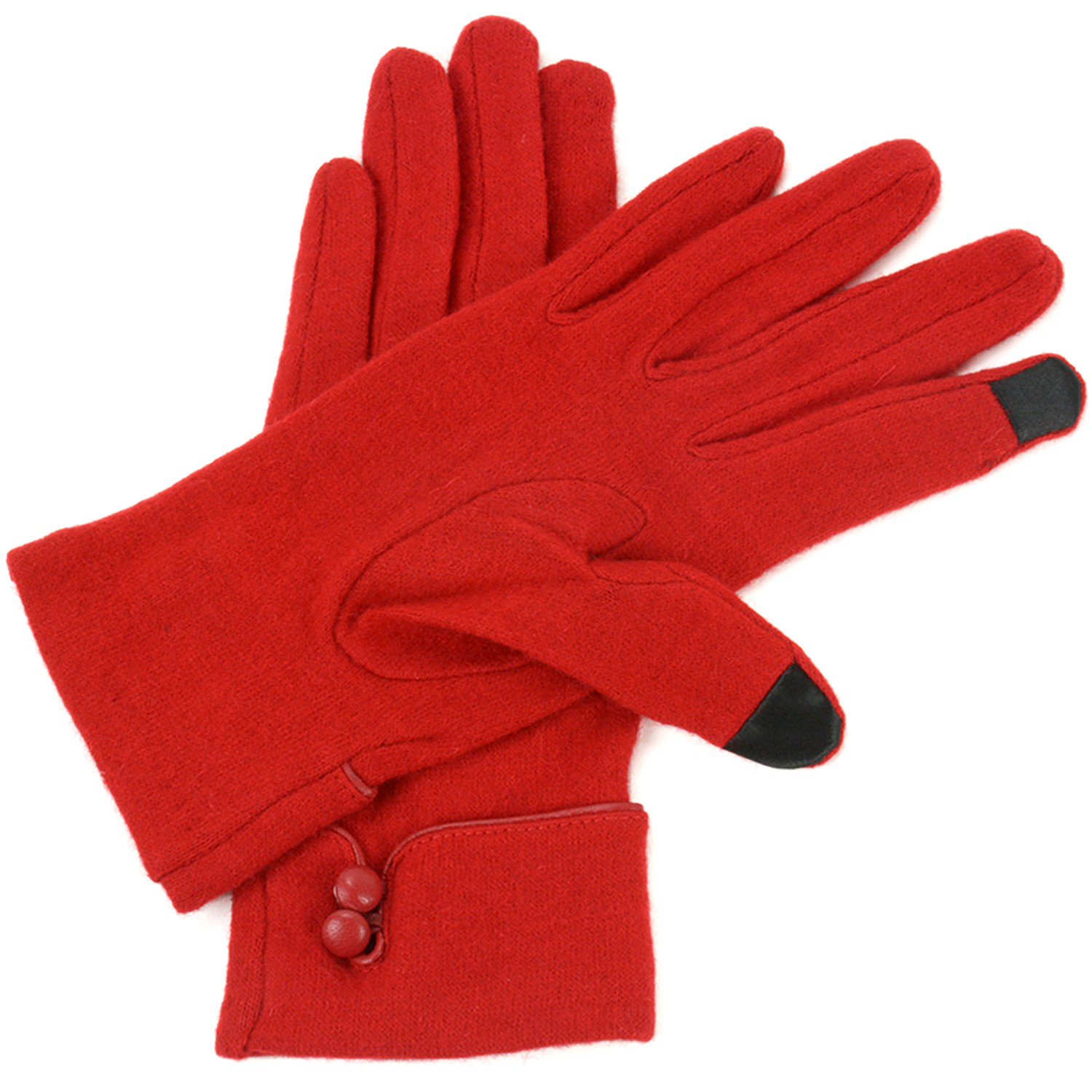 Alpine-Swiss-Womens-Wool-amp-Leather-Trim-Touch-Screen-Texting-Dress-Button-Gloves thumbnail 18