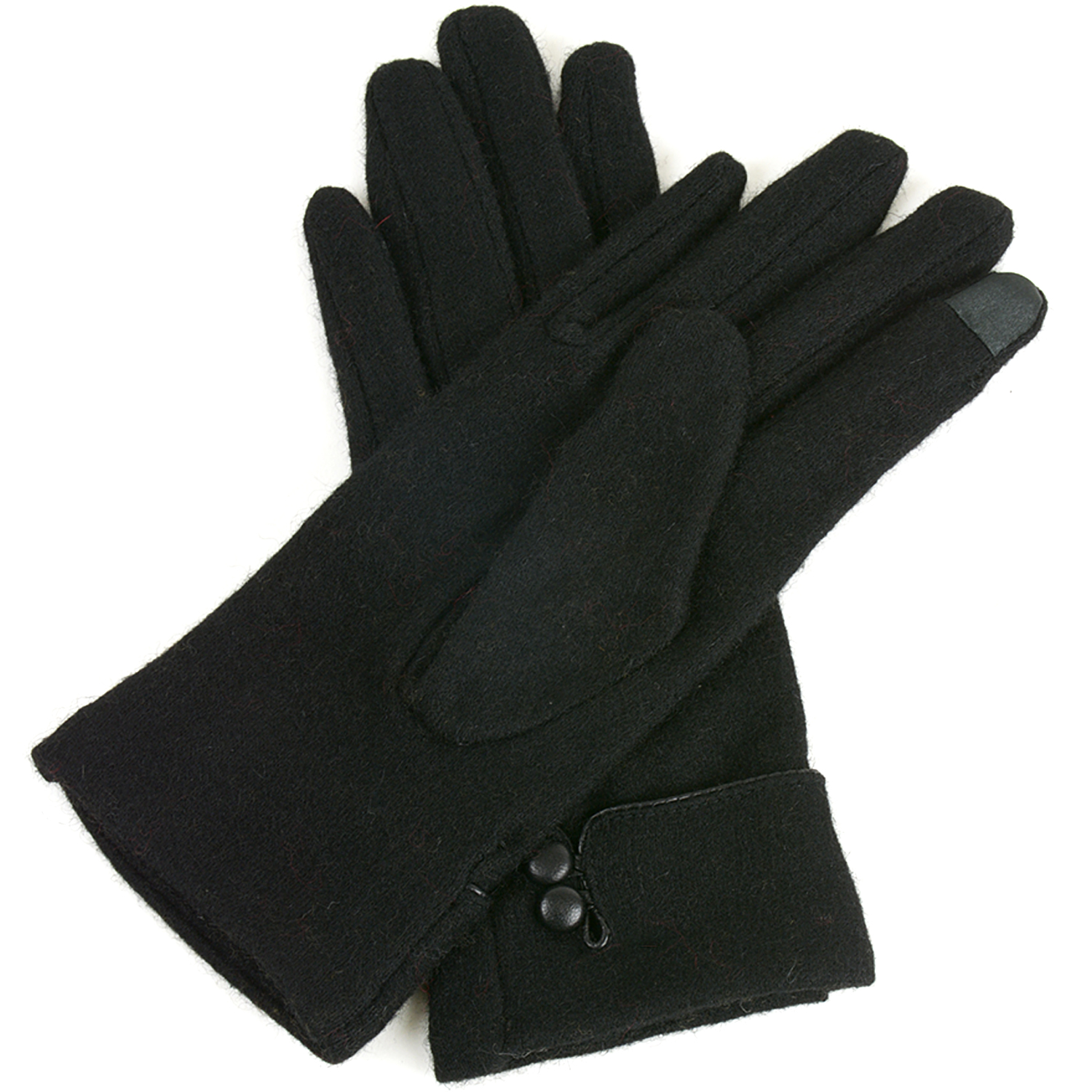 Alpine-Swiss-Womens-Wool-amp-Leather-Trim-Touch-Screen-Texting-Dress-Button-Gloves thumbnail 12