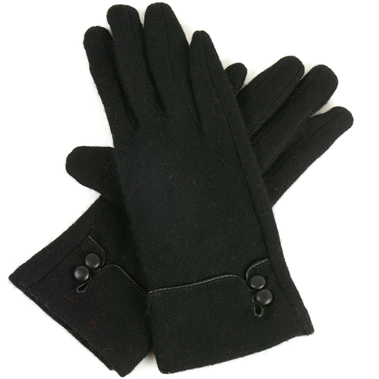 Alpine-Swiss-Womens-Wool-amp-Leather-Trim-Touch-Screen-Texting-Dress-Button-Gloves thumbnail 11