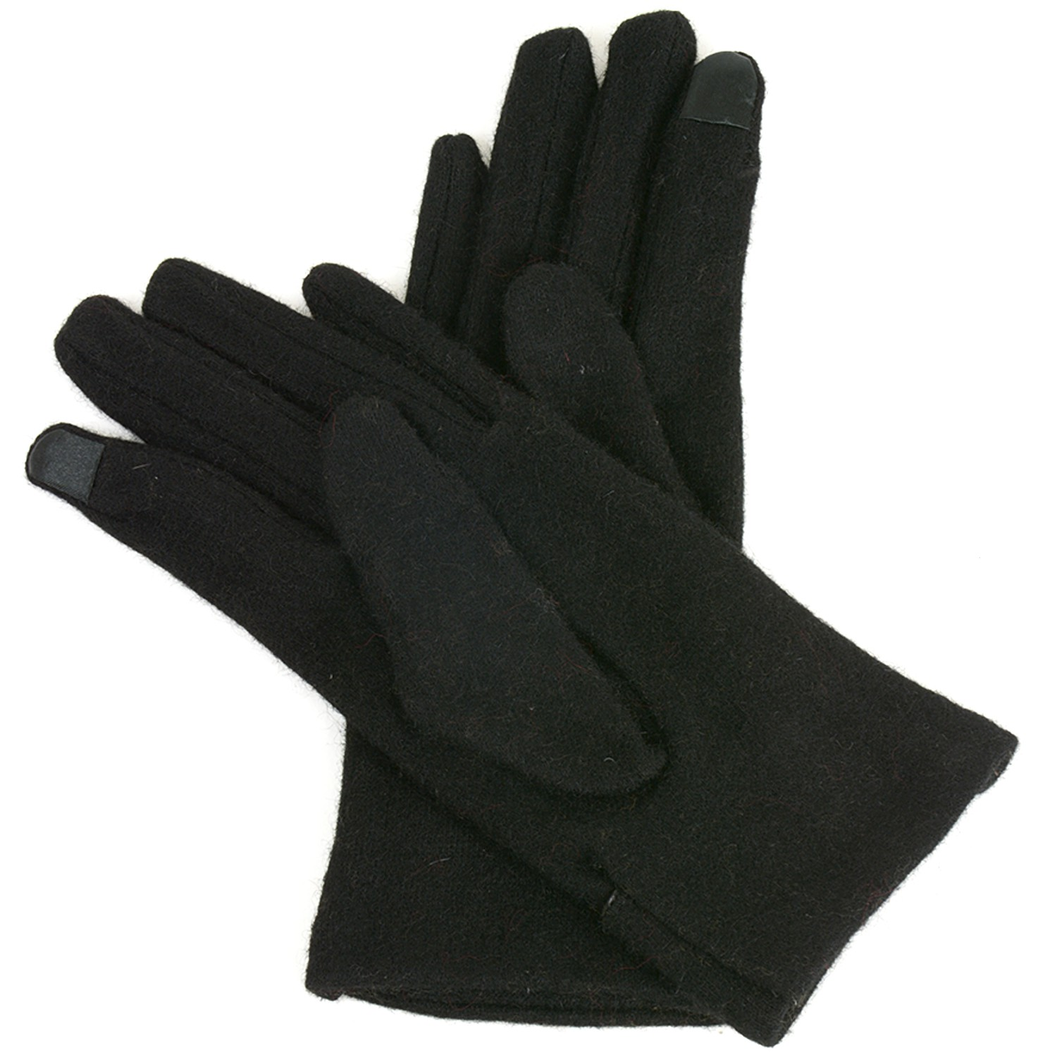 Alpine-Swiss-Womens-Wool-amp-Leather-Trim-Touch-Screen-Texting-Dress-Button-Gloves thumbnail 13