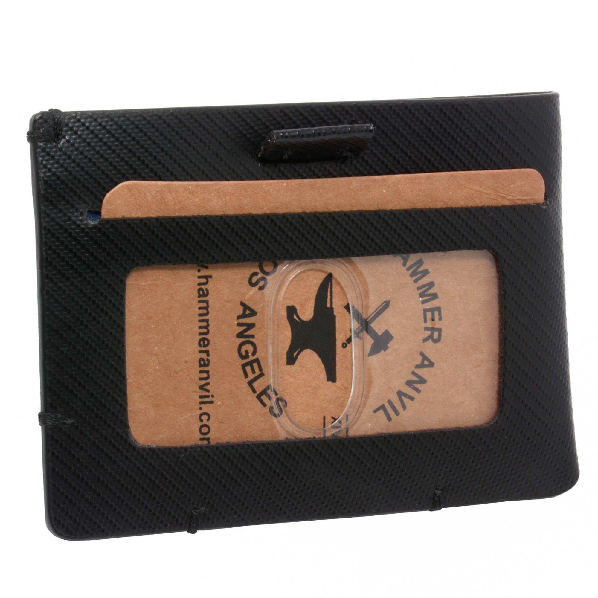 87c578c326d572 Hammer Anvil Mens Minimalist Front Pocket Wallet RFID Safe Leather ...