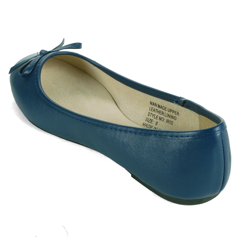 Alpine-Swiss-Iris-Womens-Ballet-Flats-Suede-Lined-Classic-Bow-Ballerina-Slippers thumbnail 22