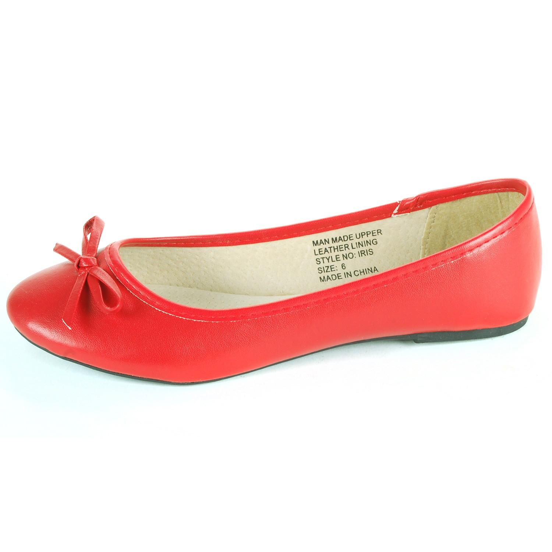 Alpine-Swiss-Iris-Womens-Ballet-Flats-Suede-Lined-Classic-Bow-Ballerina-Slippers thumbnail 28