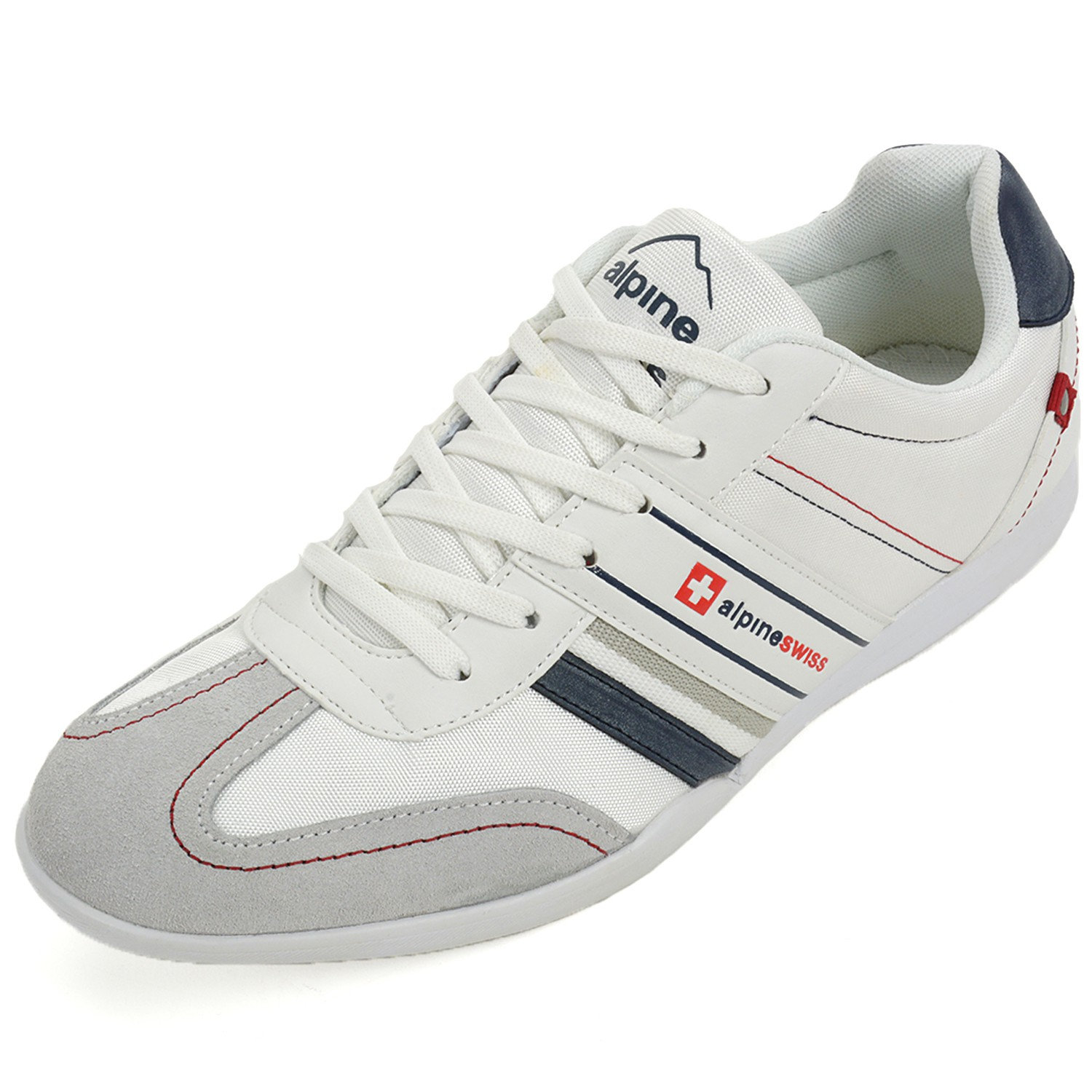 Alpine Swiss Men S Ivan Trim Retro Tennis Shoes