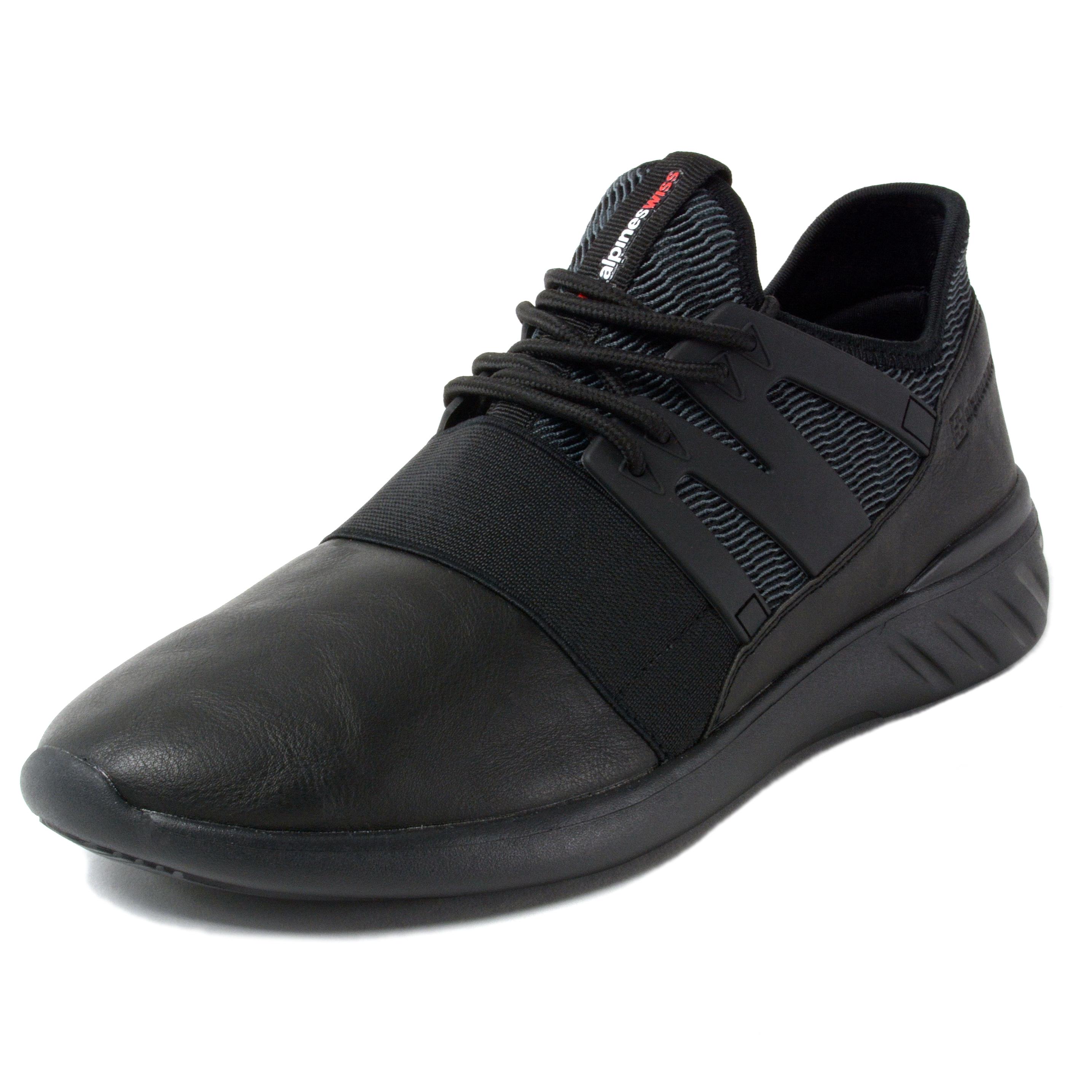 Alpine-Swiss-Josef-Men-Tennis-Shoes-Low-Top-Sneakers-Flex-Strap-Mesh-Knit-Collar