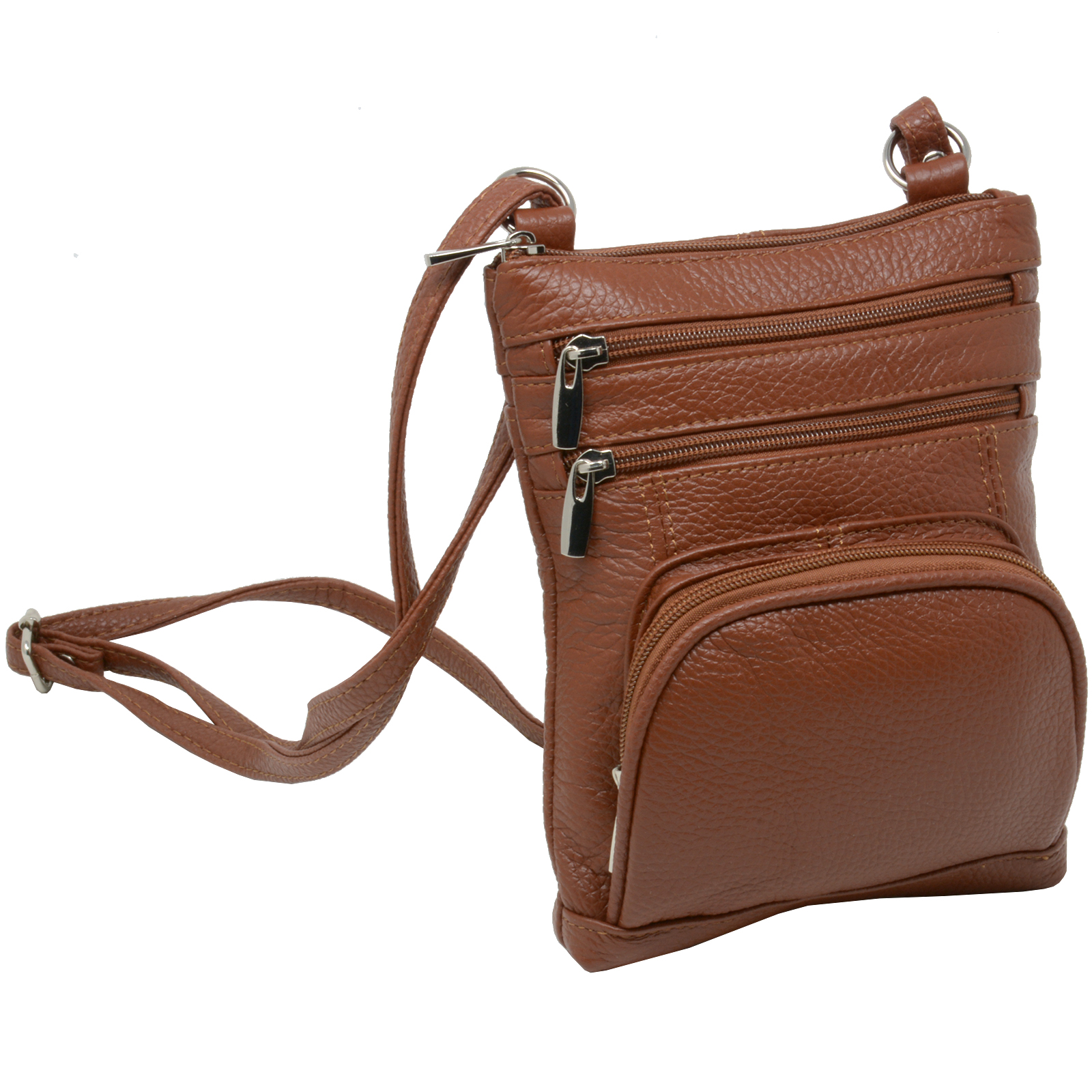 Leather-Shoulder-Bag-Handbag-Purse-Cross-Body-Organizer-Wallet-Multi-Pockets-New