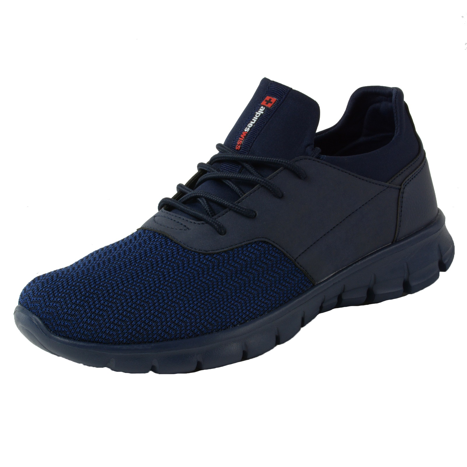c6cde604cfb Alpine Swiss Leo Men SNEAKERS Flex Knit Tennis Shoes Casual Athletic  Lightweight Size 13 Navy