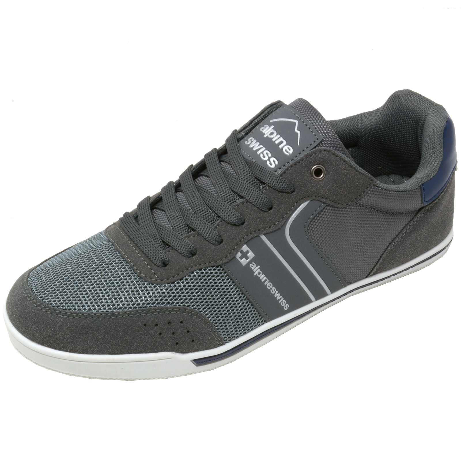 Alpine-Swiss-Liam-Mens-Fashion-Sneakers-Suede-Trim-Low-Top-Lace-Up-Tennis-Shoes thumbnail 30