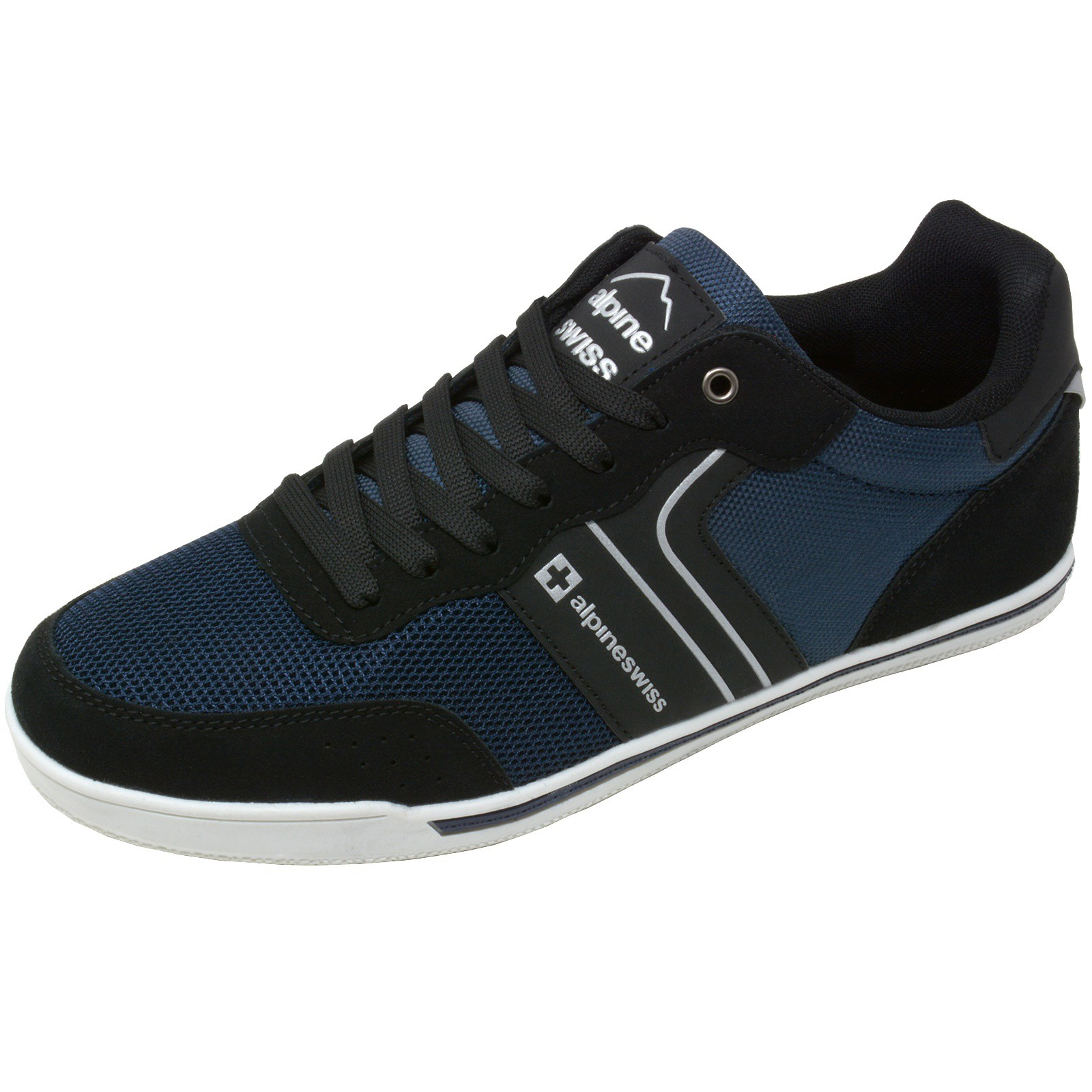 Alpine-Swiss-Liam-Mens-Fashion-Sneakers-Suede-Trim-Low-Top-Lace-Up-Tennis-Shoes thumbnail 39