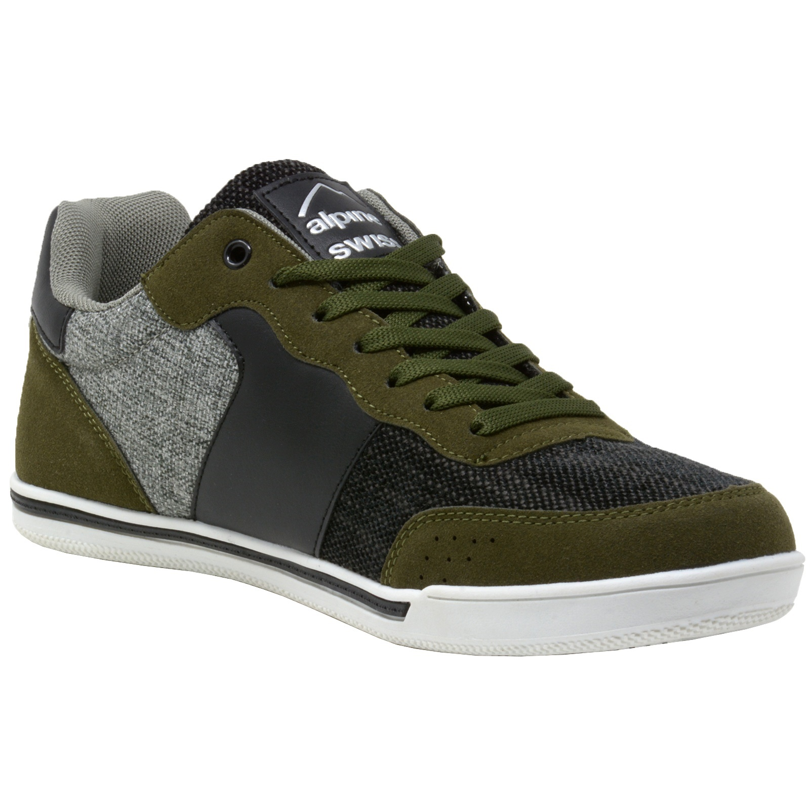 Alpine-Swiss-Liam-Mens-Fashion-Sneakers-Suede-Trim-Low-Top-Lace-Up-Tennis-Shoes thumbnail 47