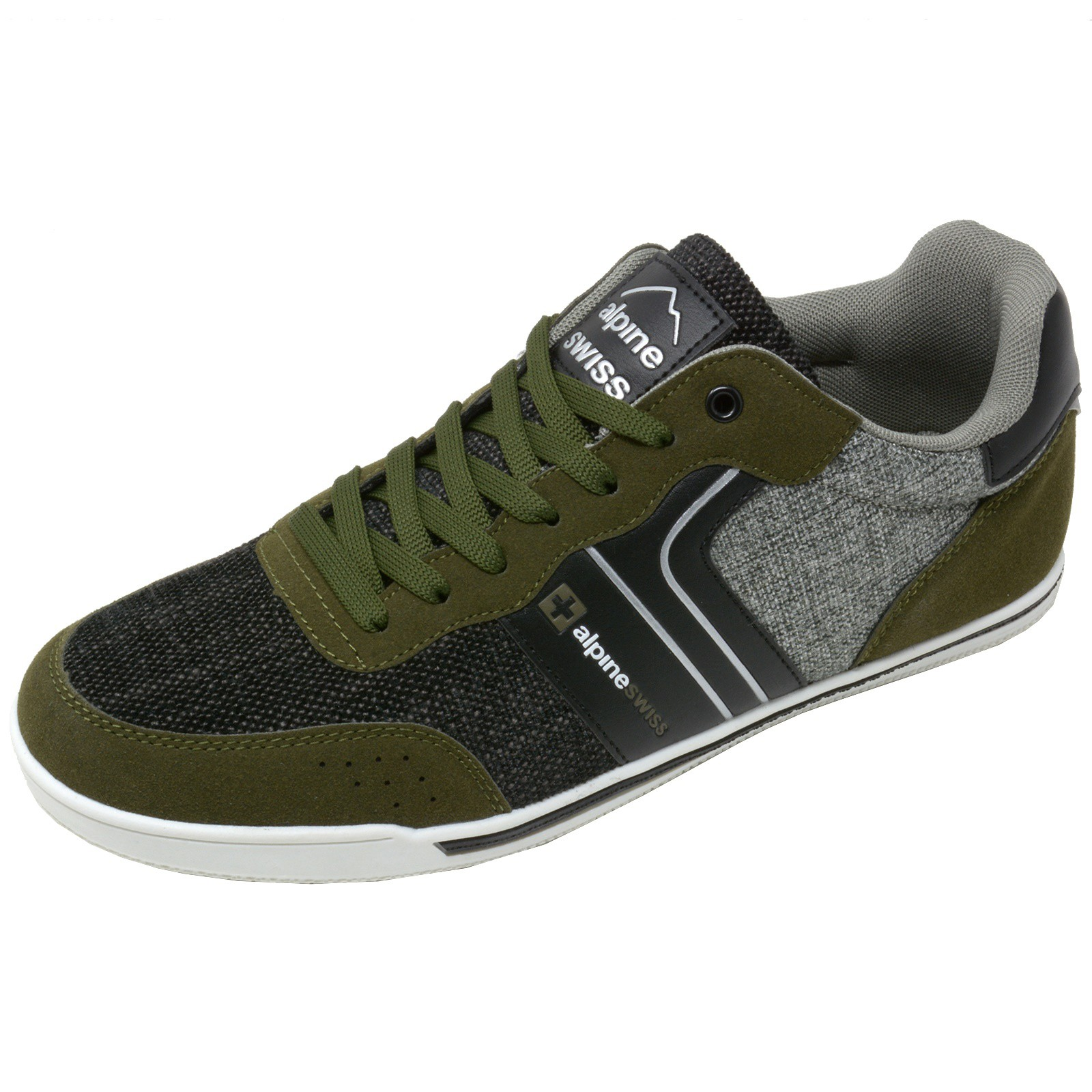 Alpine-Swiss-Liam-Mens-Fashion-Sneakers-Suede-Trim-Low-Top-Lace-Up-Tennis-Shoes thumbnail 48