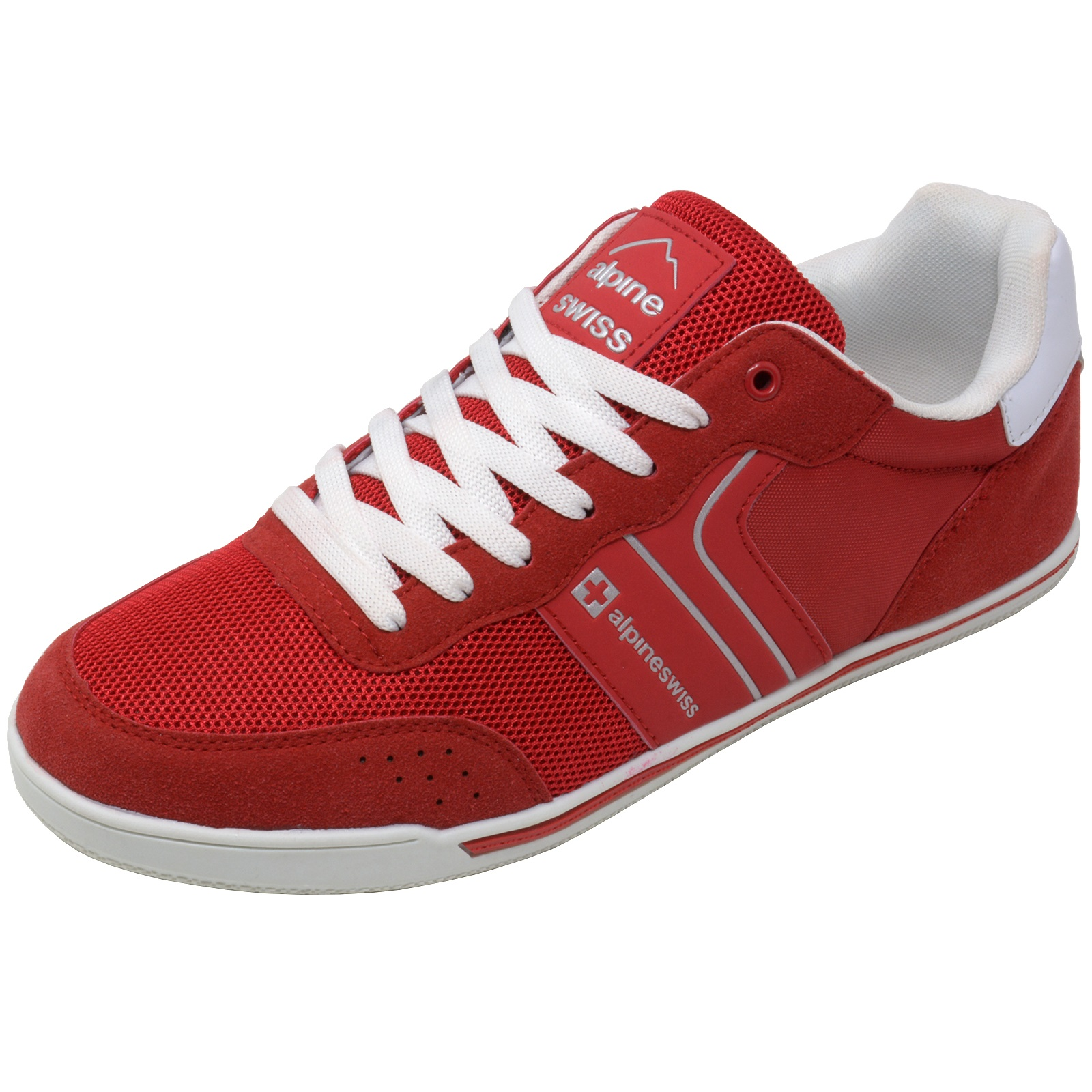 Alpine-Swiss-Liam-Mens-Fashion-Sneakers-Suede-Trim-Low-Top-Lace-Up-Tennis-Shoes thumbnail 57