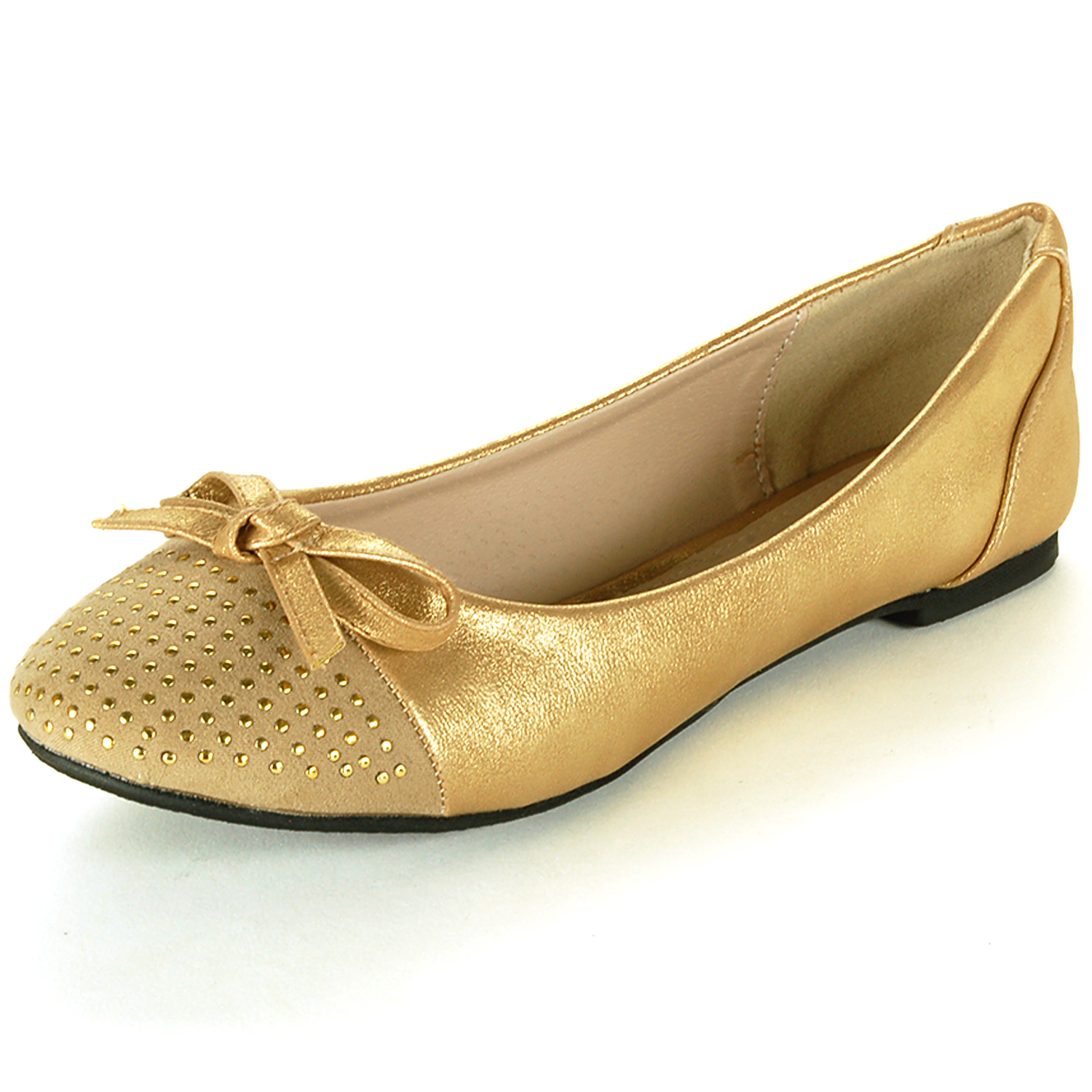 Silver And Gold Women Flats Shoes