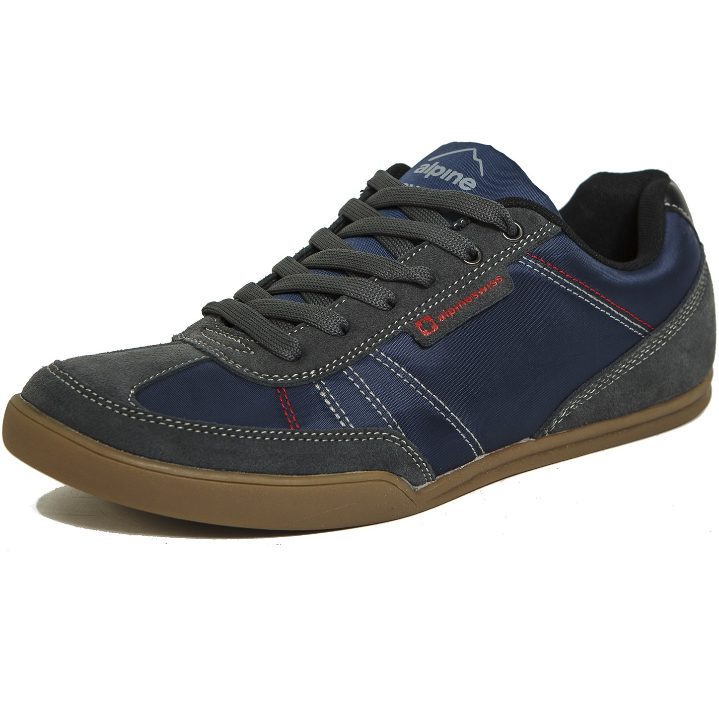 8e6c1d351f Alpine Swiss Marco Mens Casual Shoes Sporty Lace up Jean   Sneaker ...