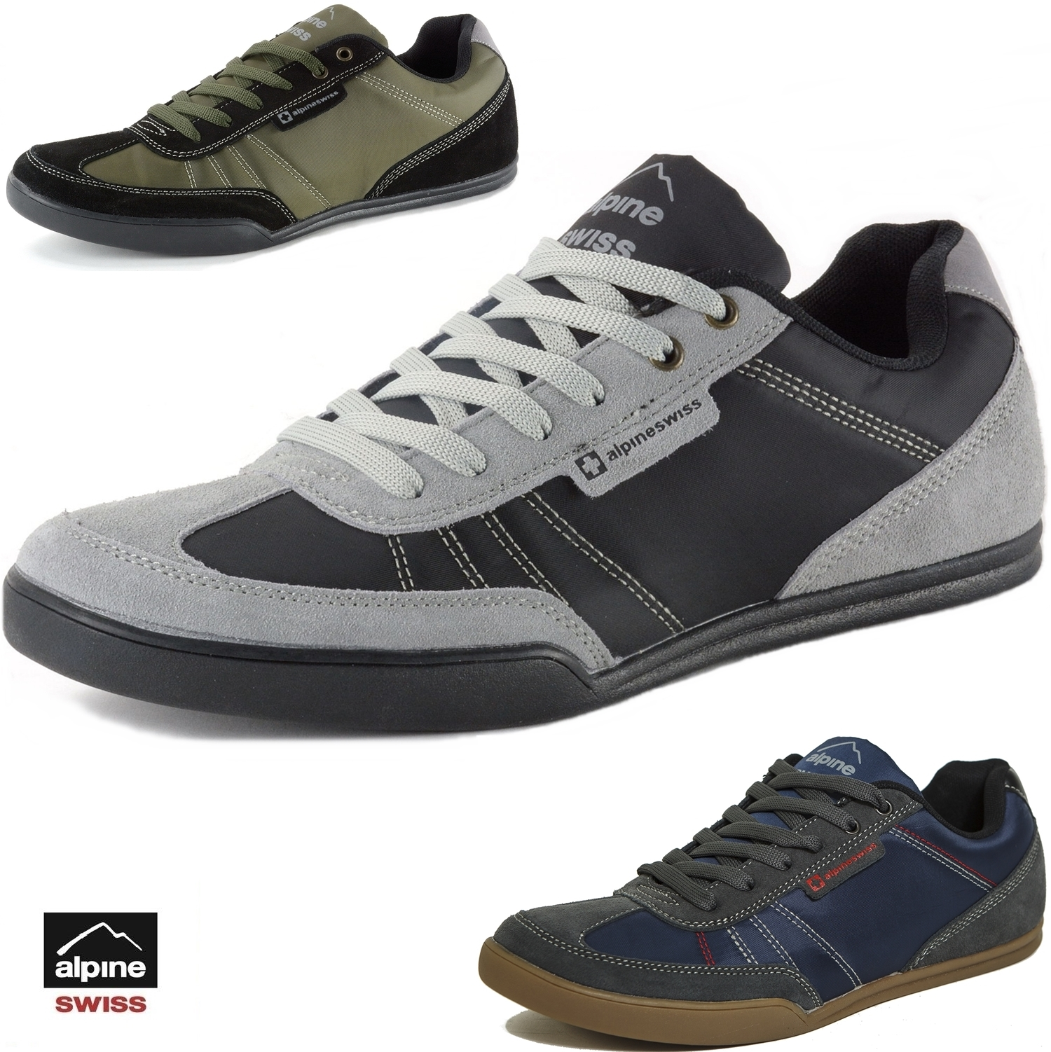 293d5ab7de57 Details about Alpine Swiss Marco Mens Casual Shoes Sporty Lace up Jean &  Sneaker Fused Hybrid