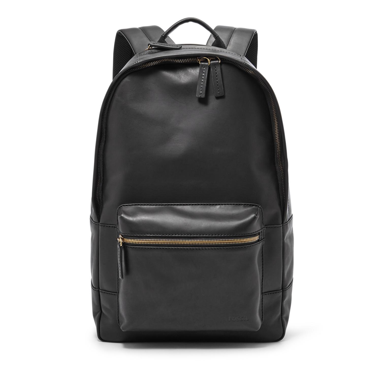 Fossil Estate Leather Laptop Backpack Computer Bookbag School