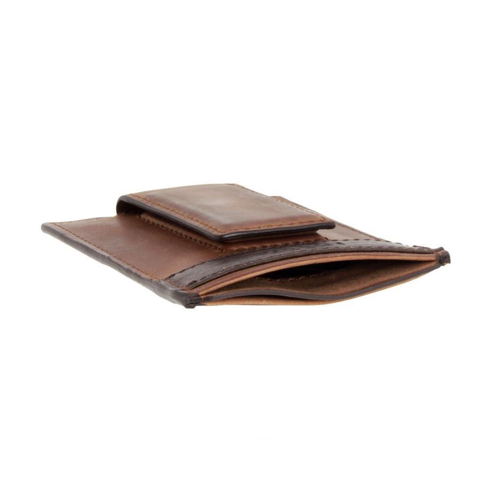 Fossil Quinn Leather Magnetic Card Case Slim Money Clip Front Pocket ...