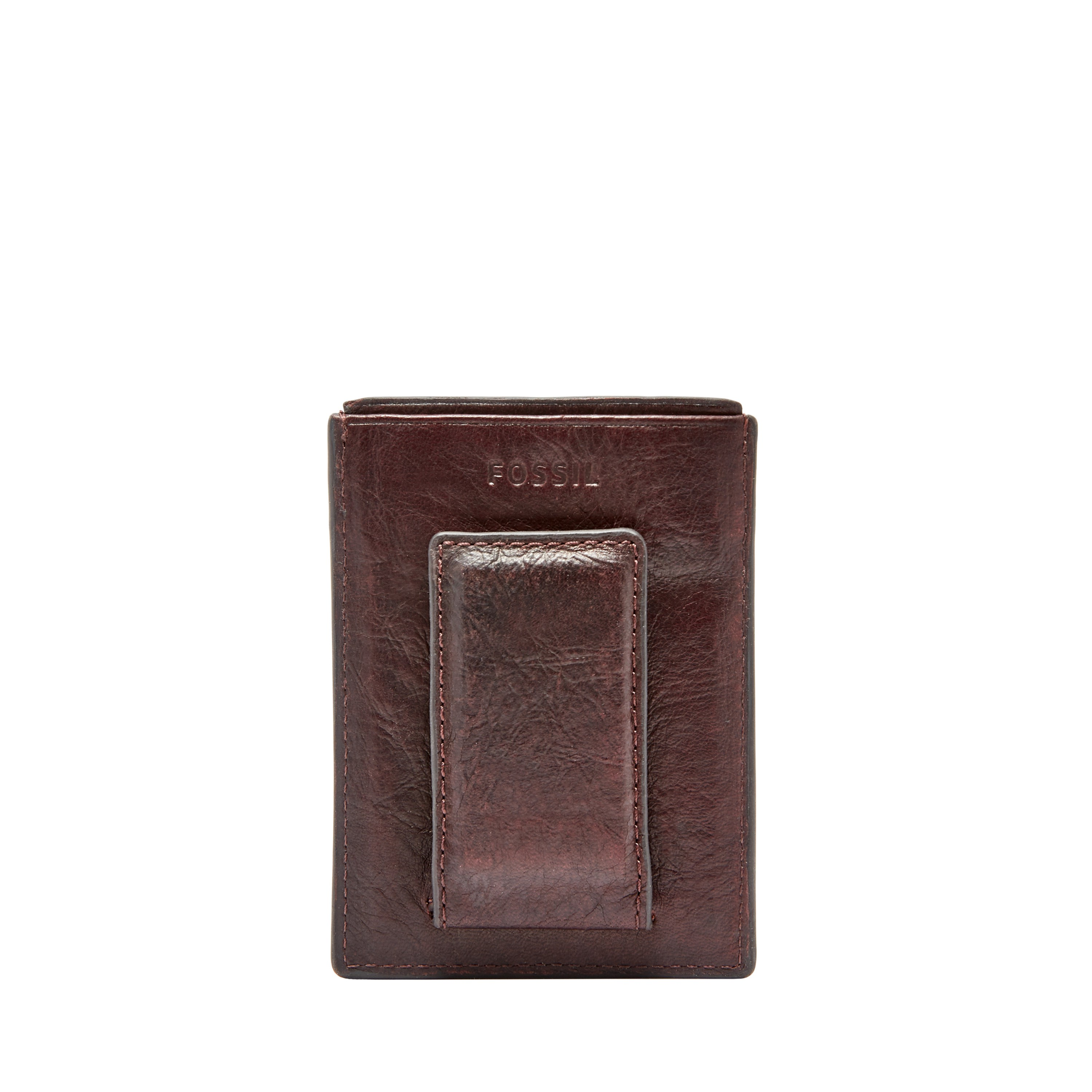 Fossil Ingram RFID Leather Magnetic Card Case Money Clip Front ...