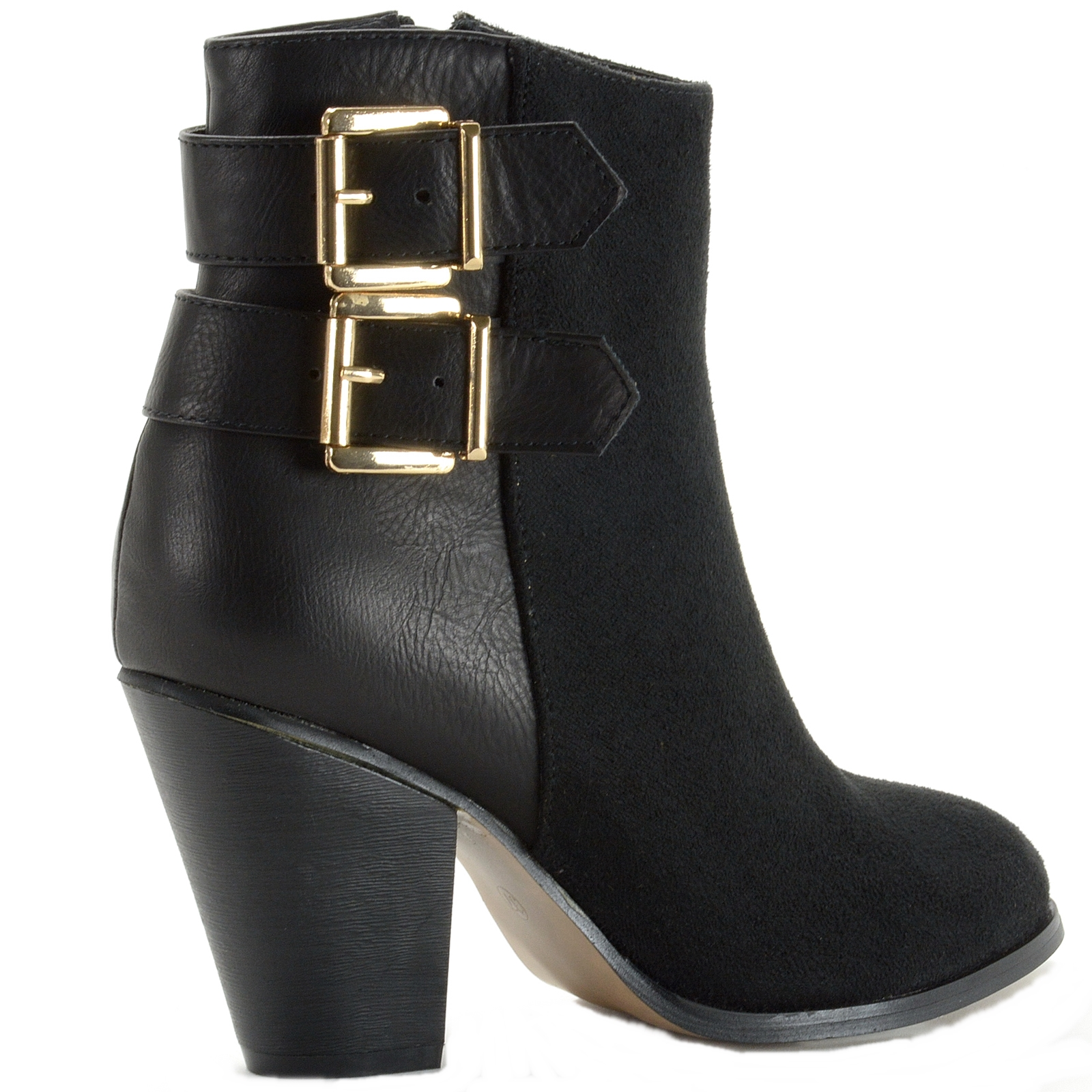 Alpine-Swiss-Nendaz-Women-039-s-Ankle-Boots-Tailored-3-034-Block-High-Heel-Ankle-Bootie