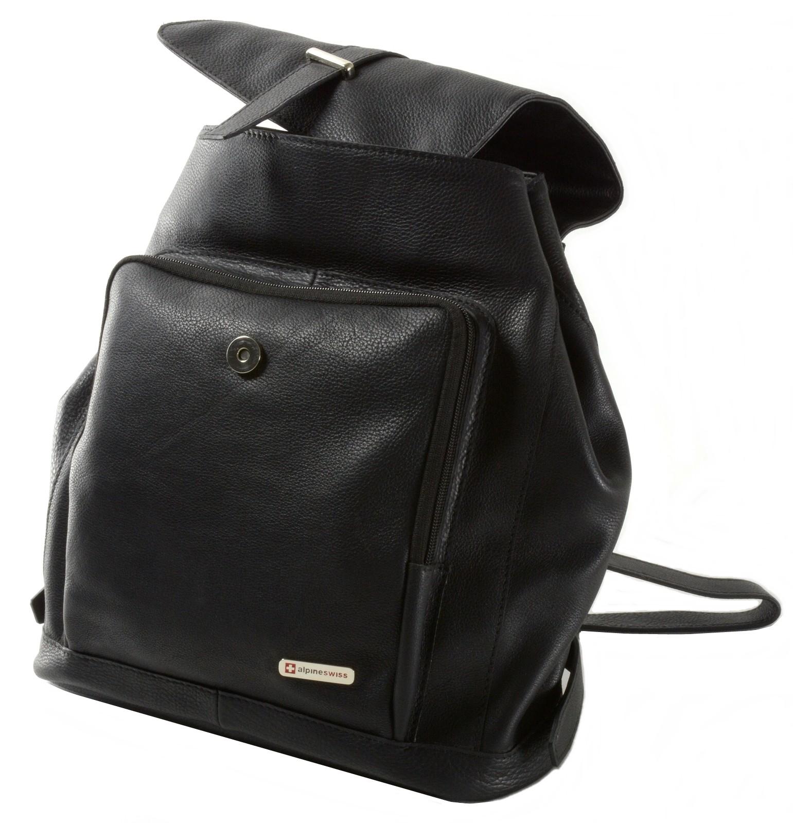 f928f12691 Alpine Swiss Monroe Leather Briefcase TopZip Laptop Messenger ... Heshe Leather  Womens Handbags ...