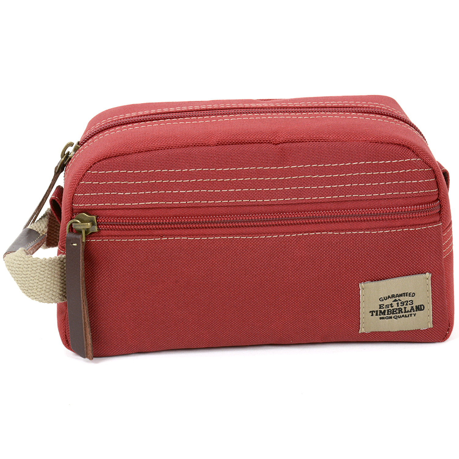 Timberland Travel Kit Toiletry Bag Overnight Handle Case Canvas Shaving Dopp  Kit 9321a60ff6