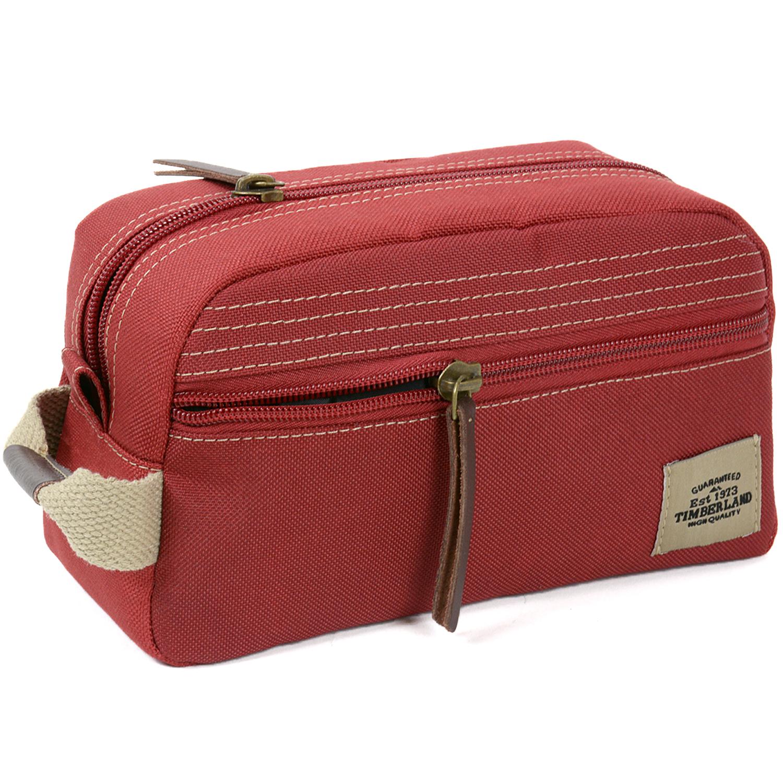 Canvas Leather Dopp Kit Travel Bag